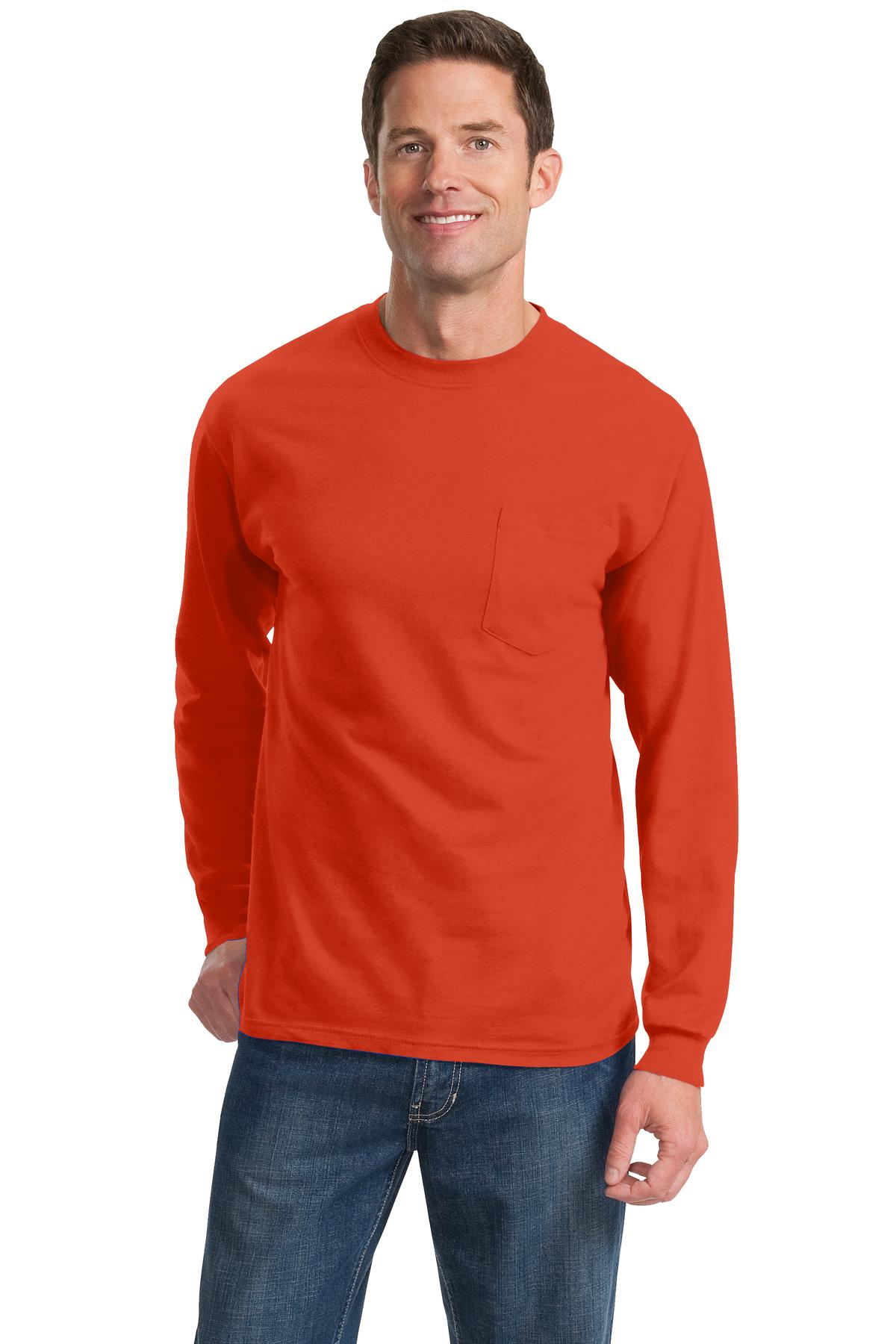 Port and Company - Long Sleeve Essential Pocket Tee. PC61LSP