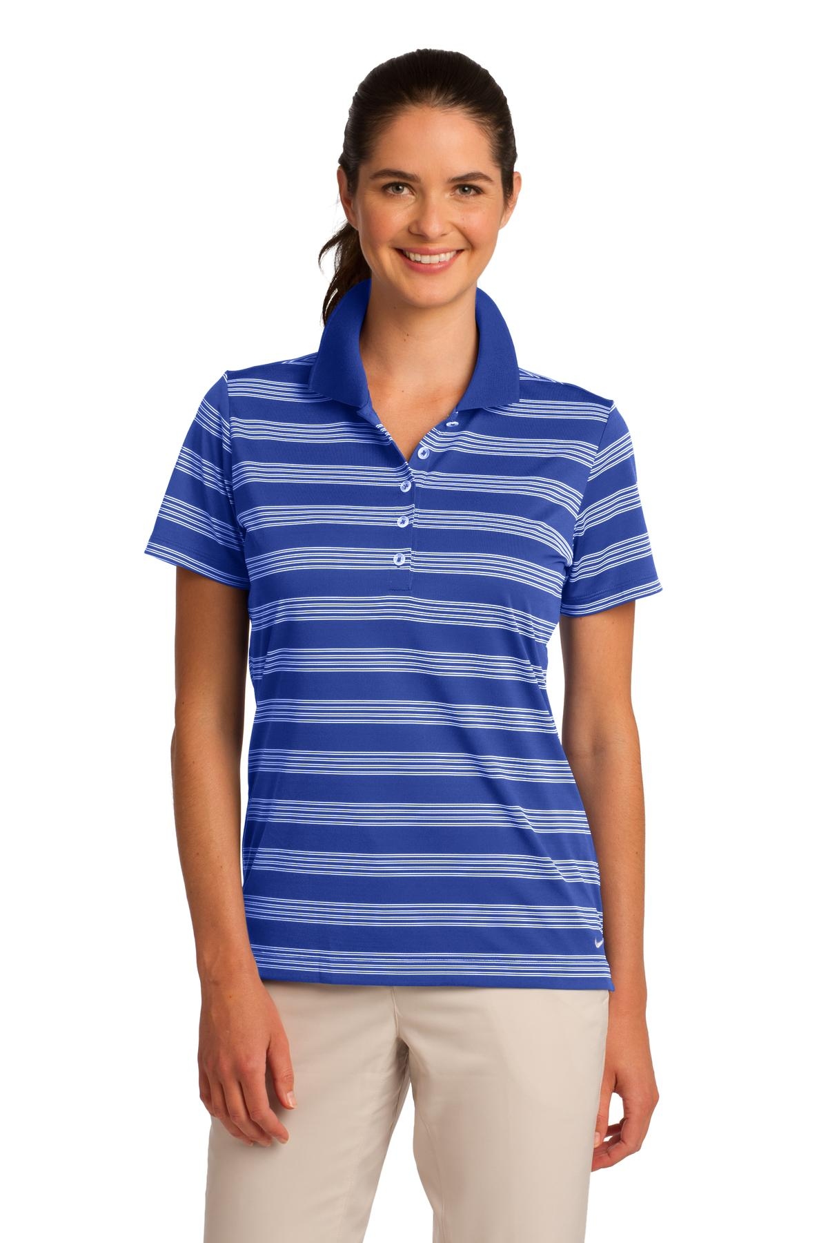 CLOSEOUT  Nike Ladies Dri-FIT Tech Stripe Polo. 578678