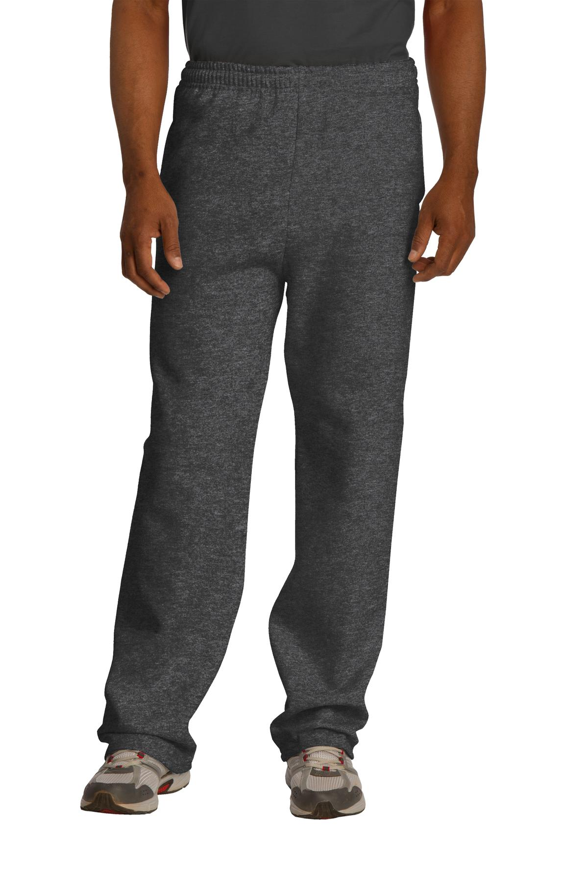 JERZEES ®  NuBlend ®  Open Bottom Pant with Pockets. 974MP - Black Heather