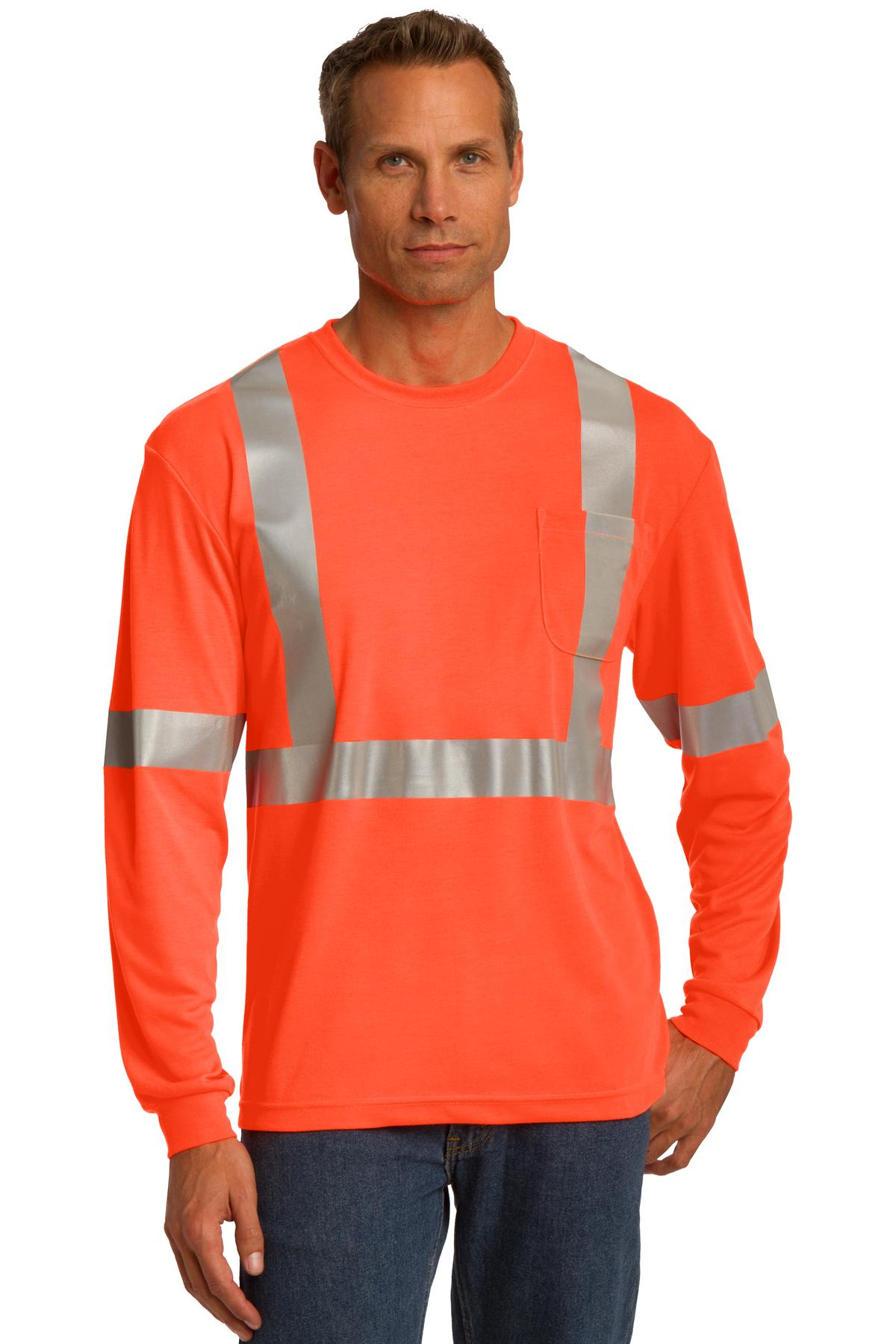 CornerStone ANSI 107 Class 2 Long Sleeve Safety T-Shirt. CS401LS