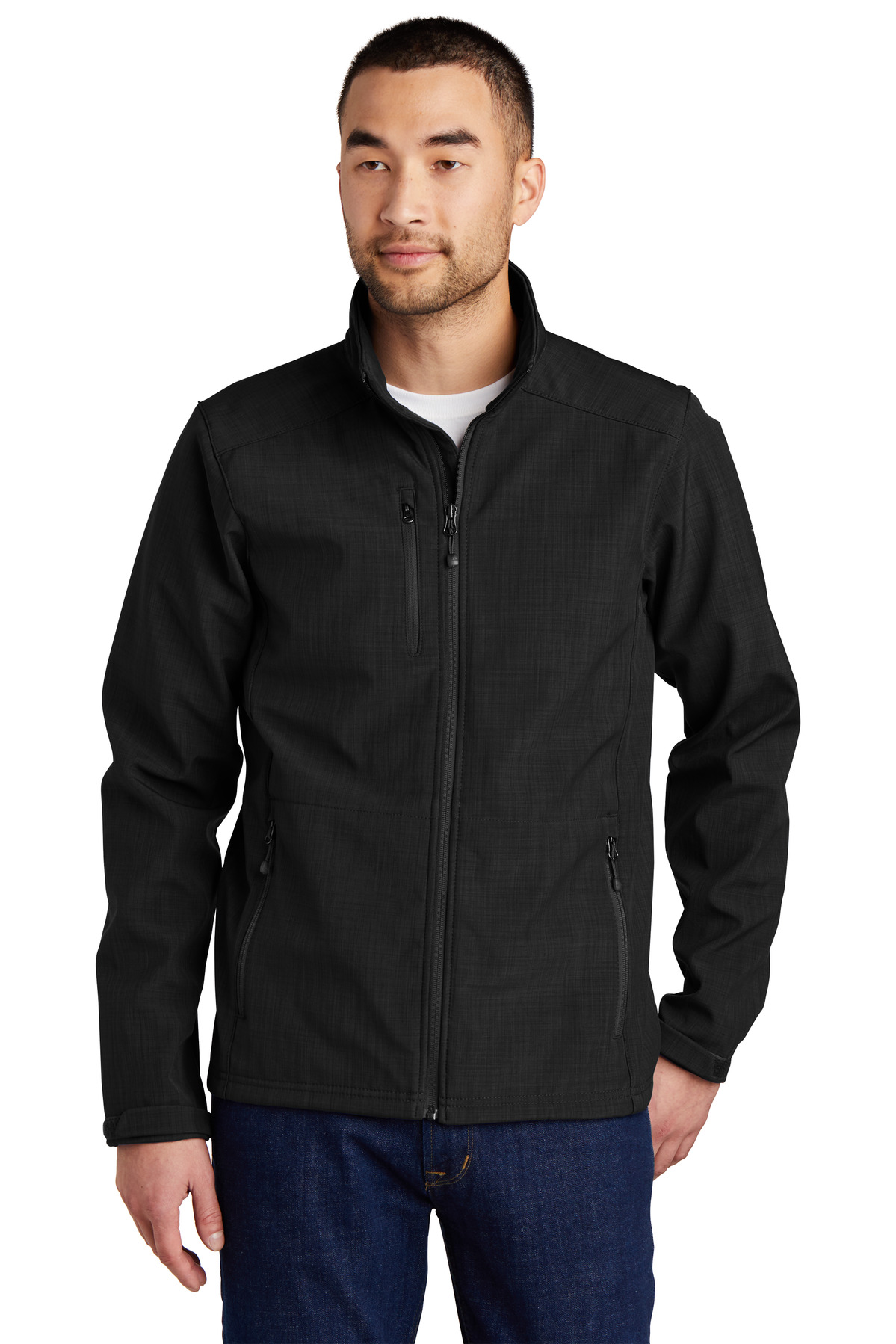 Eddie Bauer ®  Shaded Crosshatch Soft Shell Jacket. EB532 - Black