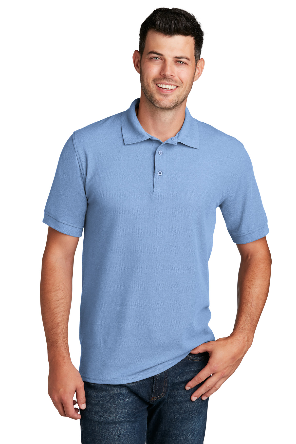 Port & Company ®  Core Blend Pique Polo. KP155 - Light Blue
