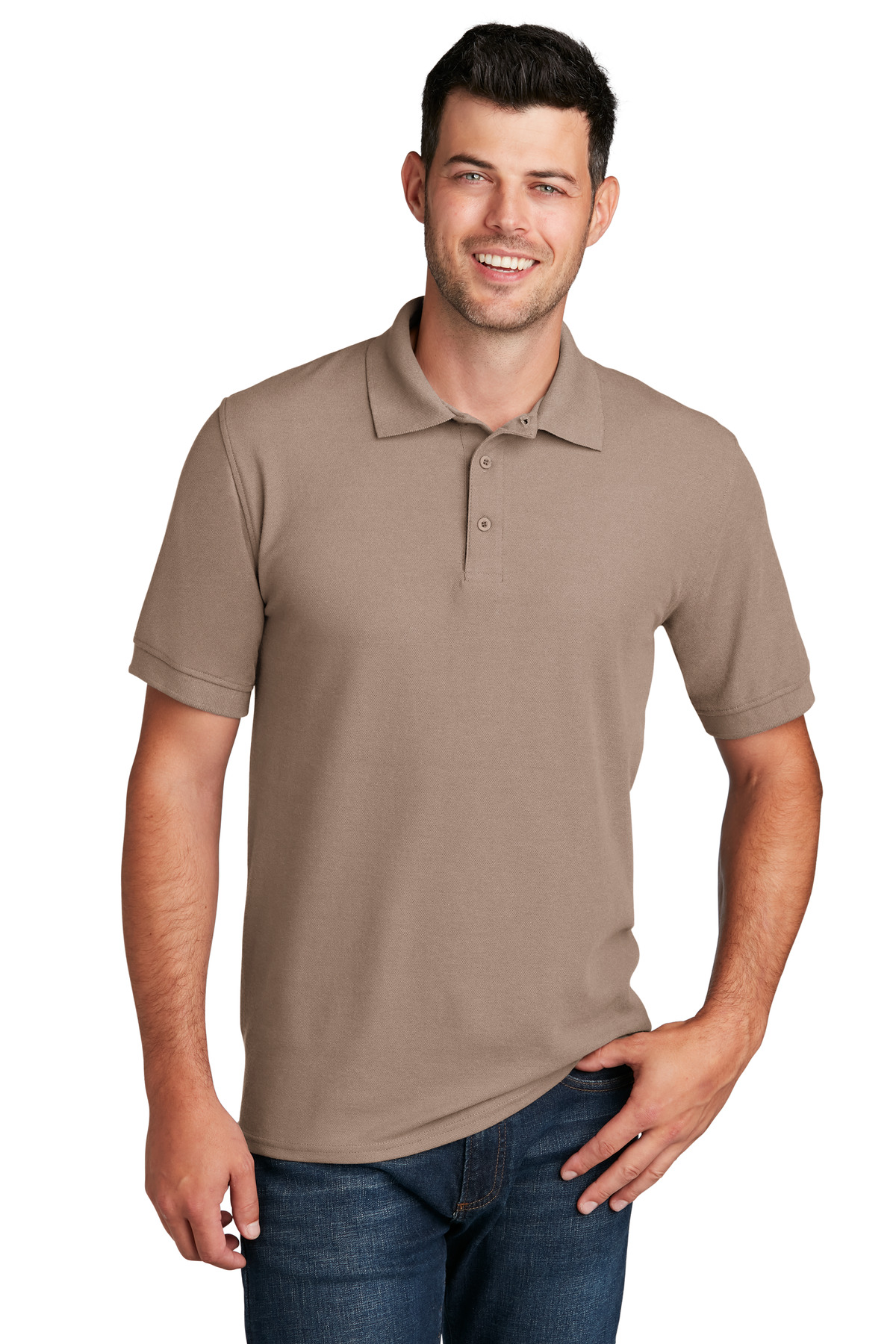 Port & Company ®  Core Blend Pique Polo. KP155 - Sand