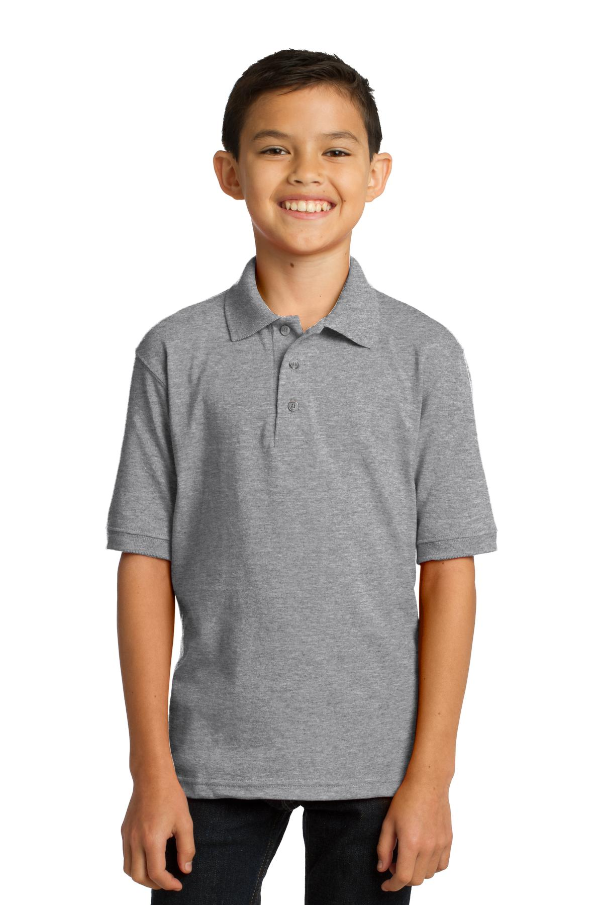 Port & Company ®  Youth Core Blend Jersey Knit Polo. KP55Y - Athletic Heather