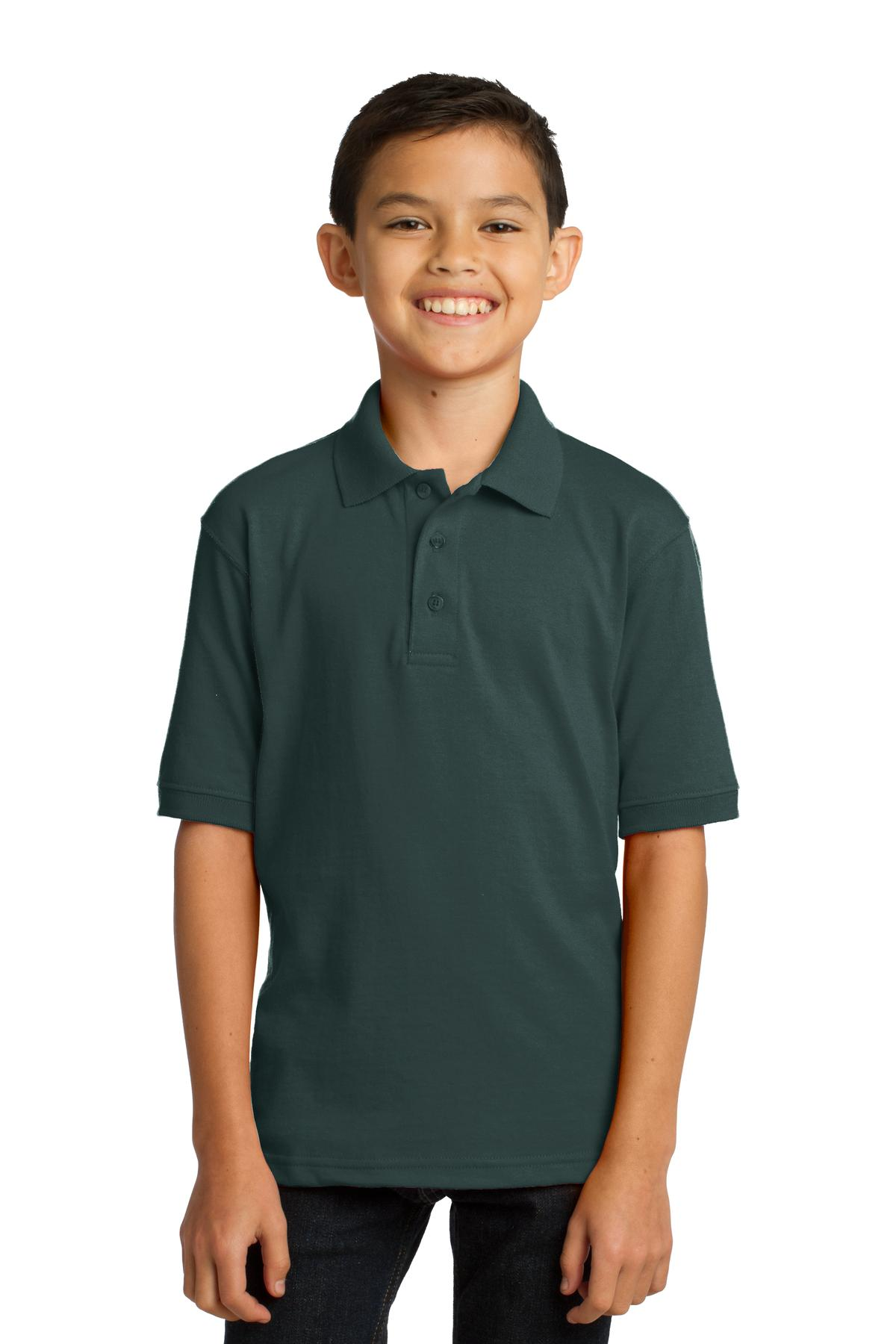 Port & Company ®  Youth Core Blend Jersey Knit Polo. KP55Y - Dark Green