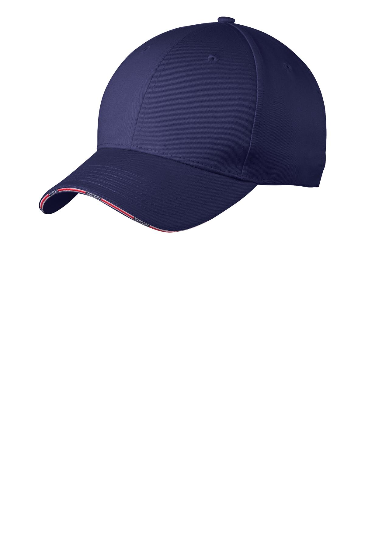 Port Authority Americana Flag Sandwich Cap. C829