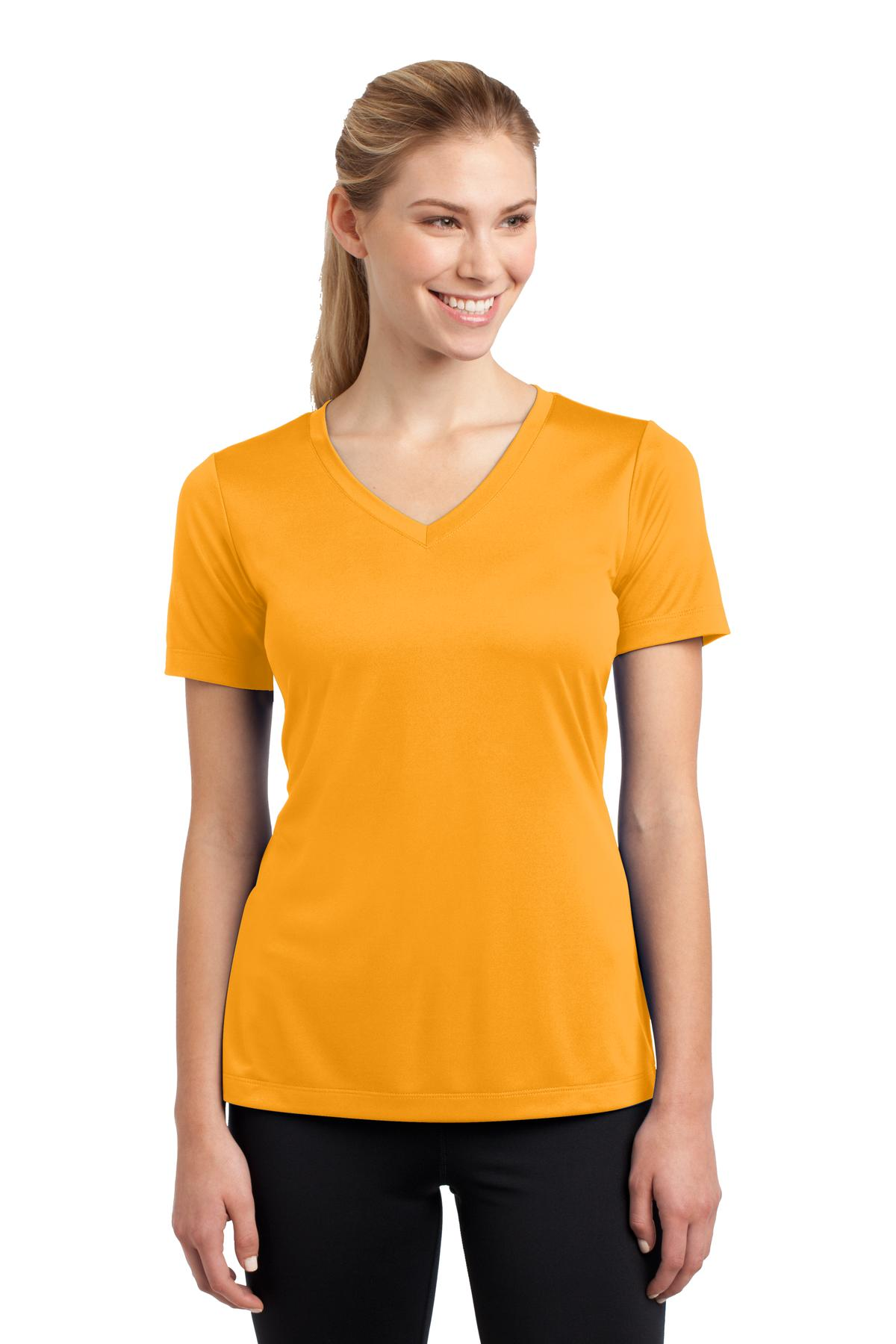 Sport-Tek ®  Ladies PosiCharge ®  Competitor™ V-Neck Tee. LST353 - Gold