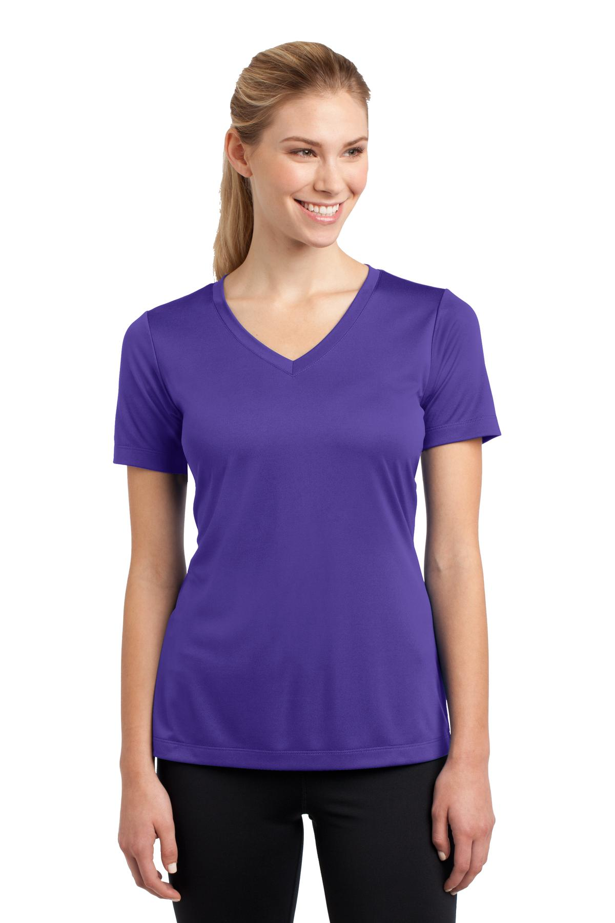 Sport-Tek ®  Ladies PosiCharge ®  Competitor™ V-Neck Tee. LST353 - Purple