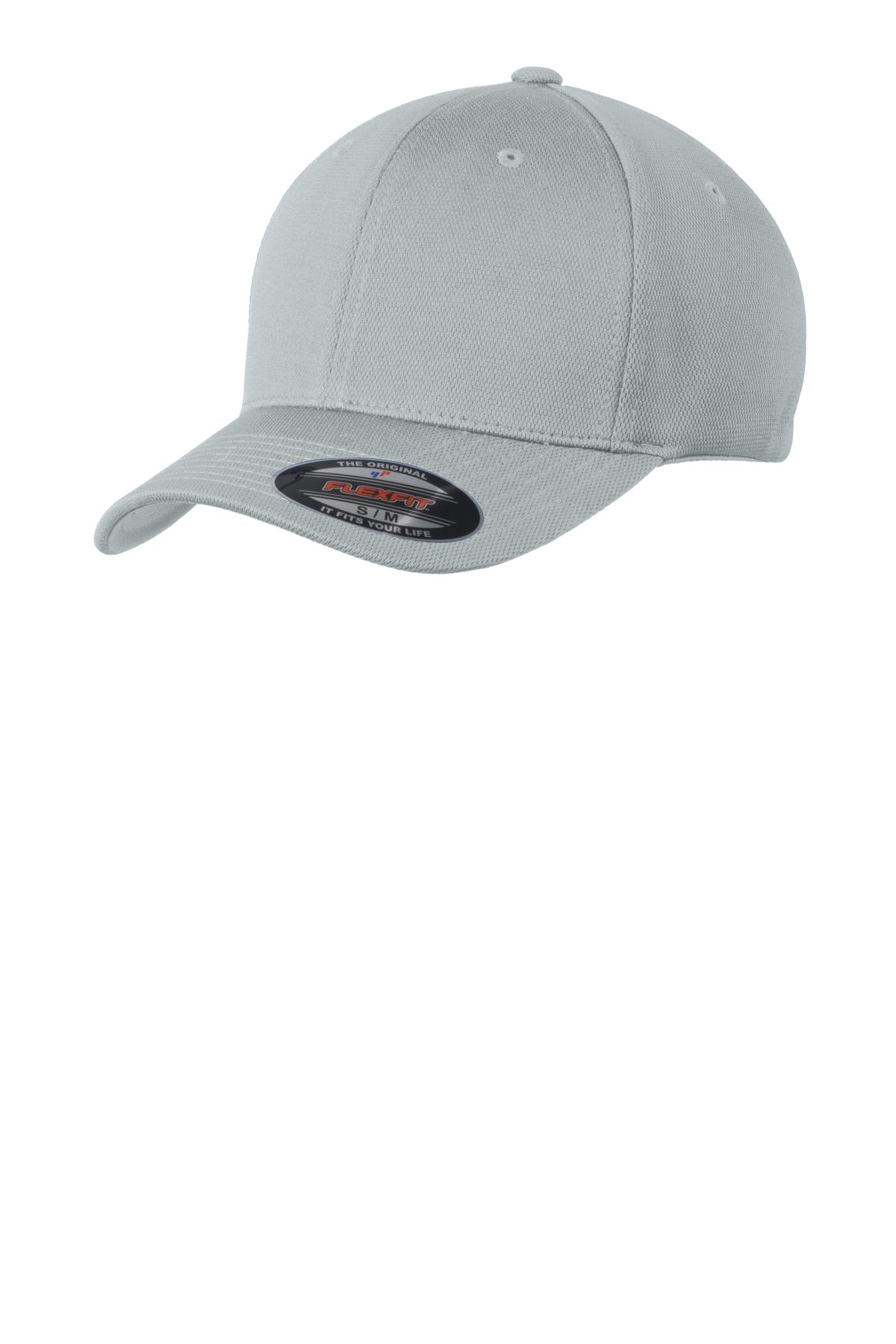 Sport-Tek ®  Flexfit ®  Cool & Dry Poly Block Mesh Cap. STC22 - Grey Heather