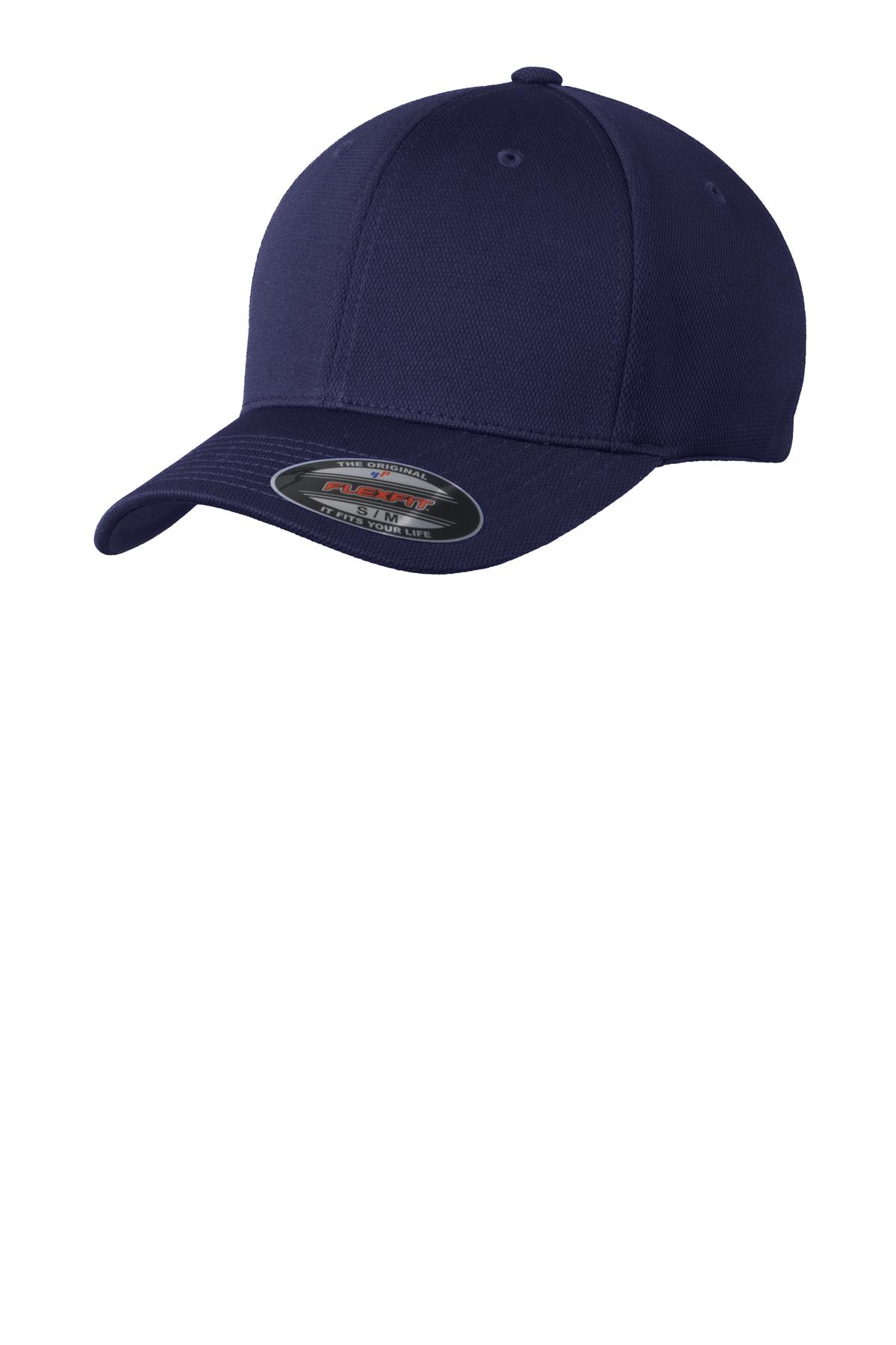 Sport-Tek ®  Flexfit ®  Cool & Dry Poly Block Mesh Cap. STC22 - True Navy