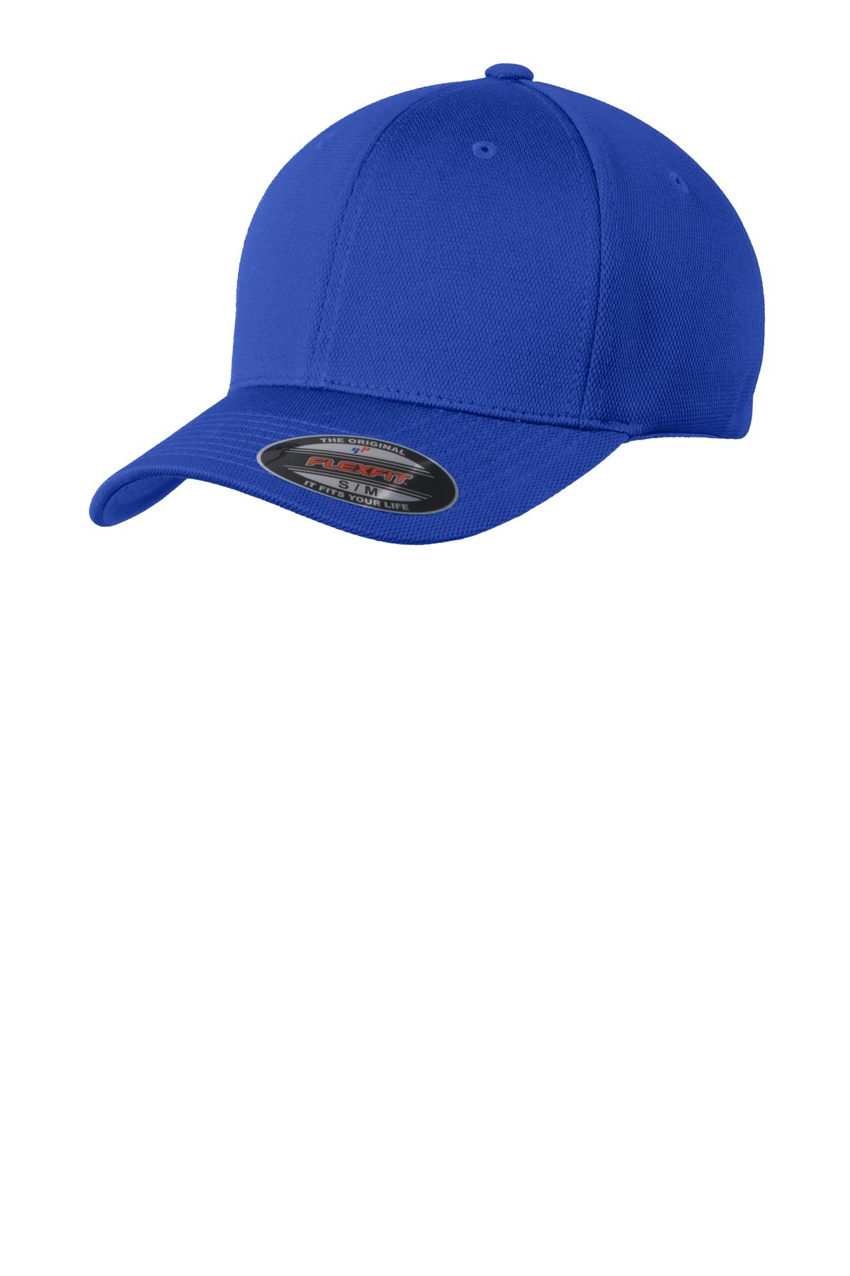 Sport-Tek ®  Flexfit ®  Cool & Dry Poly Block Mesh Cap. STC22 - True Royal