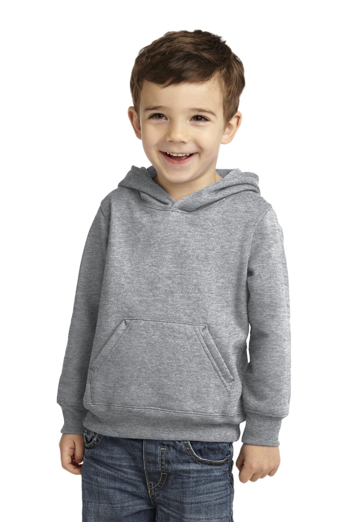 Port & Company ®  Toddler Core Fleece Pullover Hooded Sweatshirt. CAR78TH - Athletic Heather