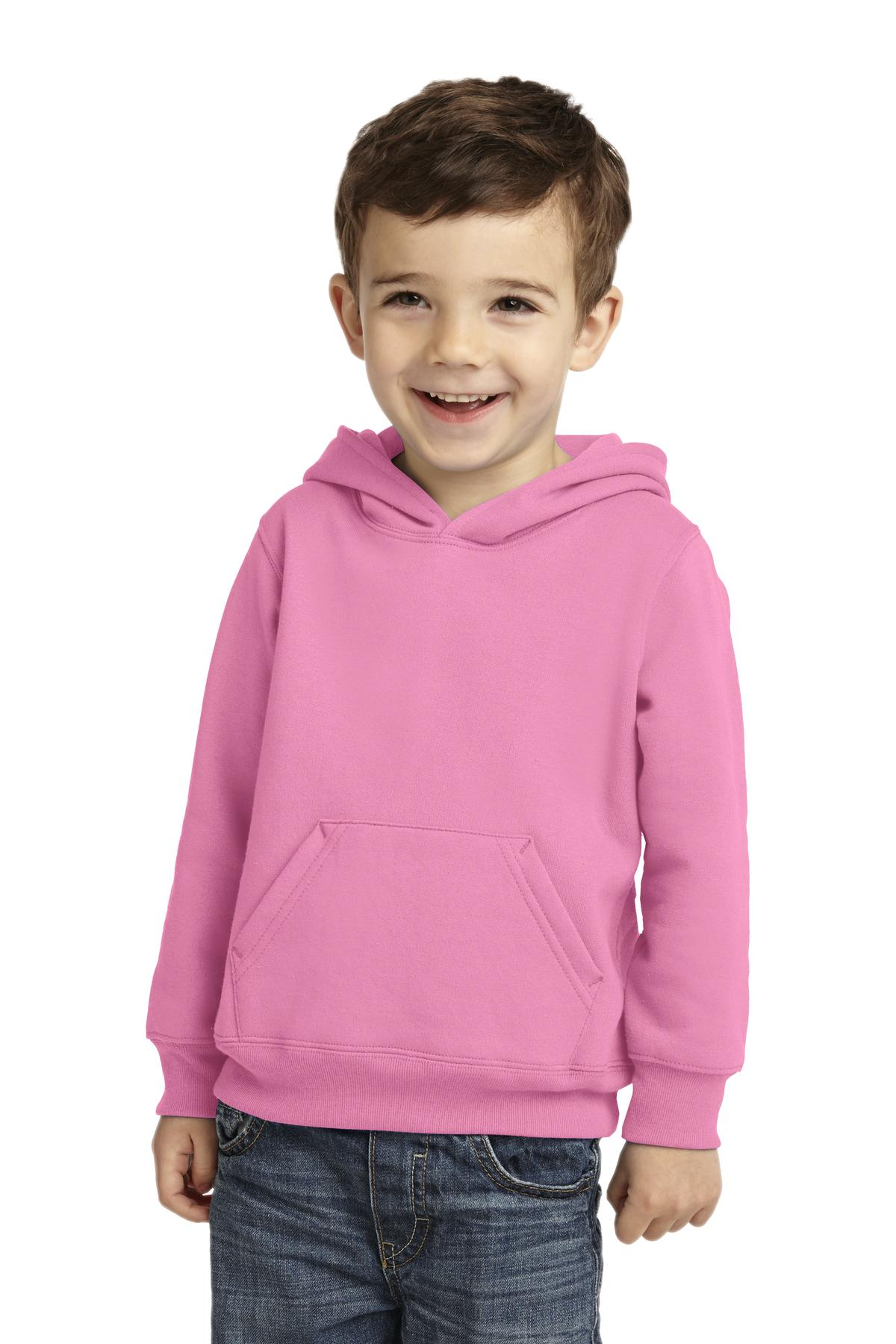 Port & Company ®  Toddler Core Fleece Pullover Hooded Sweatshirt. CAR78TH - Candy Pink