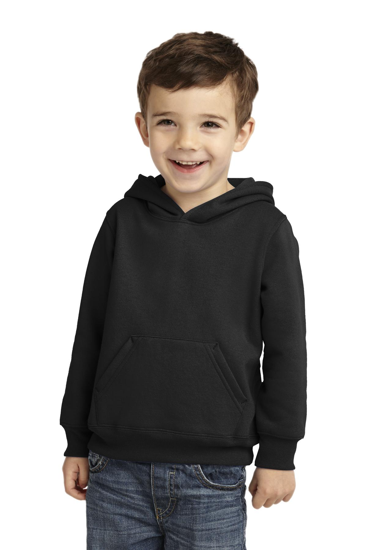 Port & Company ®  Toddler Core Fleece Pullover Hooded Sweatshirt. CAR78TH - Jet Black