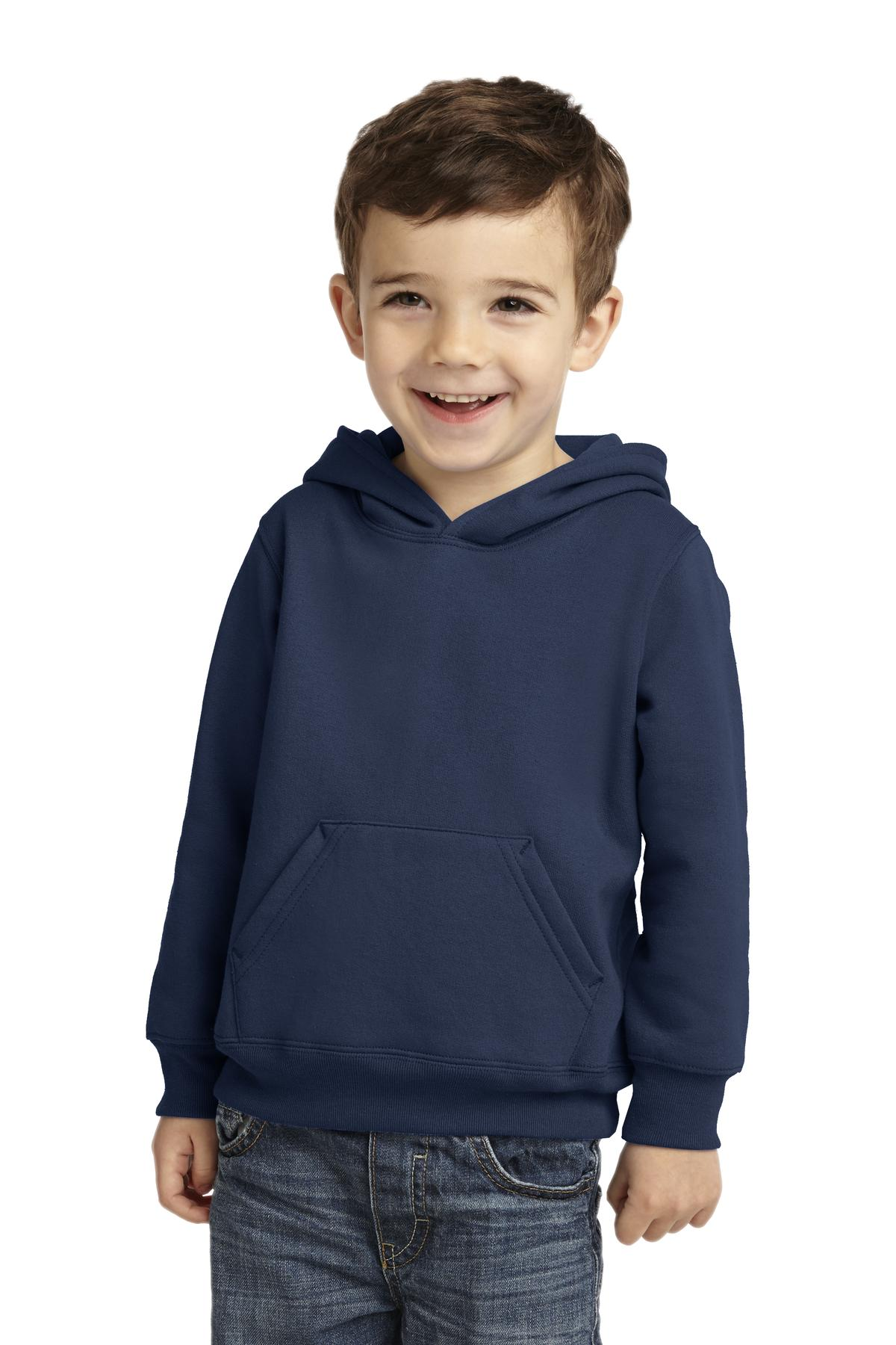Port & Company ®  Toddler Core Fleece Pullover Hooded Sweatshirt. CAR78TH - Navy