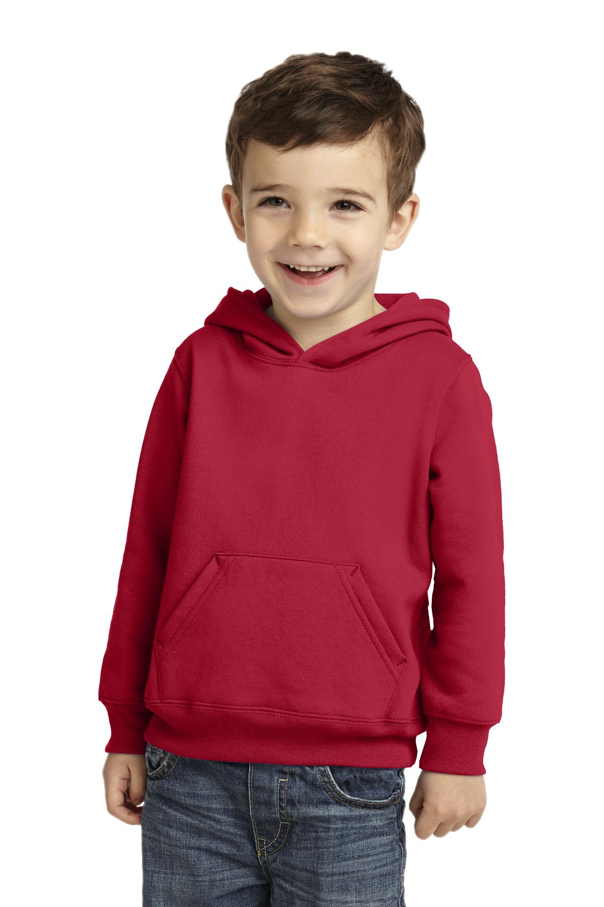 Port & Company ®  Toddler Core Fleece Pullover Hooded Sweatshirt. CAR78TH - Red