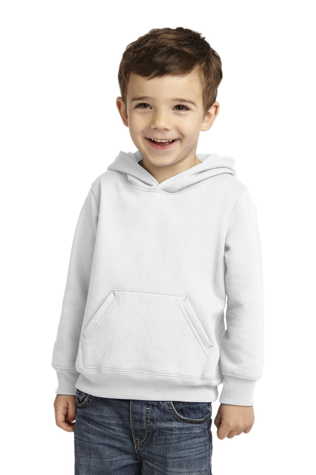 Port & Company ®  Toddler Core Fleece Pullover Hooded Sweatshirt. CAR78TH - White