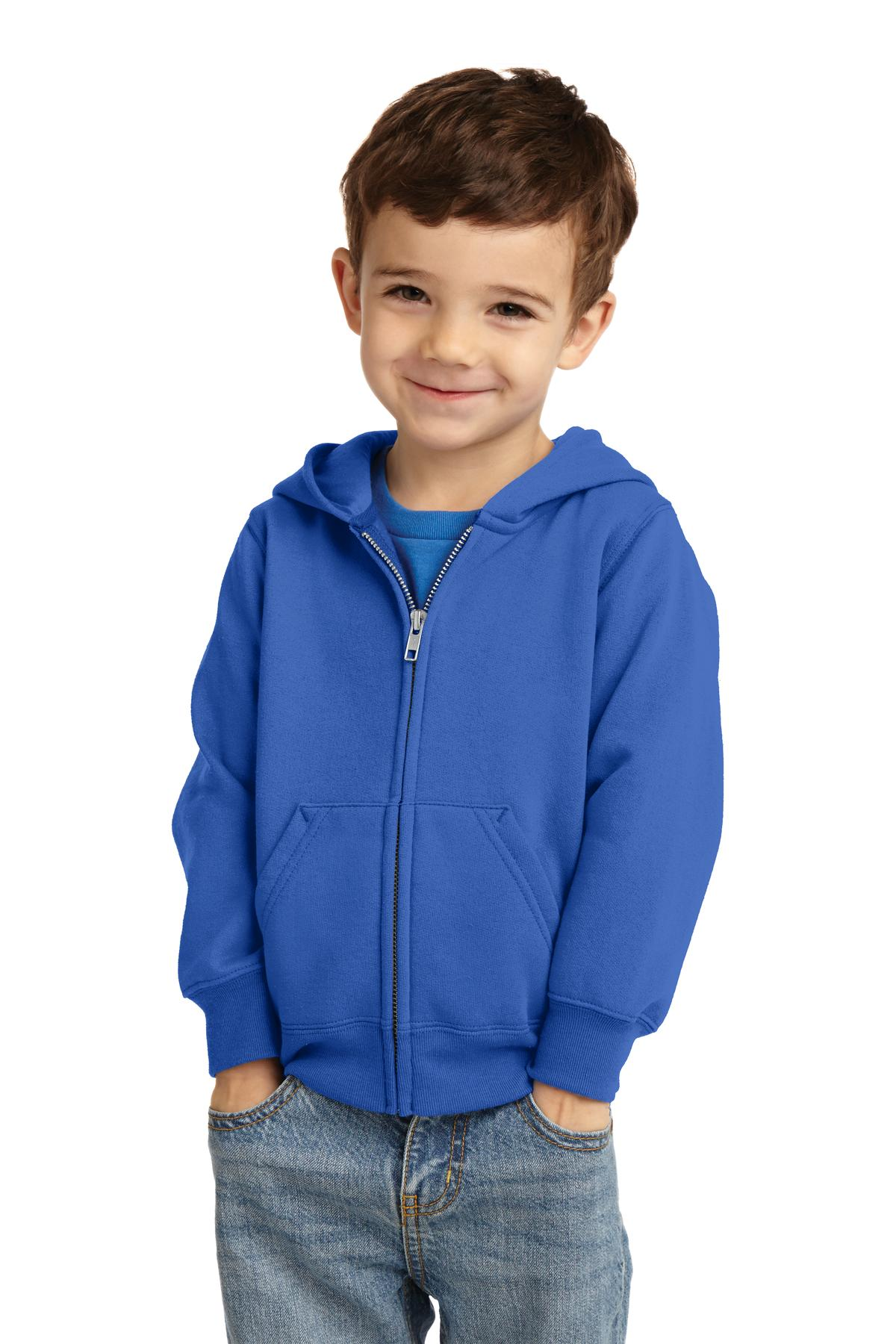 Port & Company ®  Toddler Core Fleece Full-Zip Hooded Sweatshirt. CAR78TZH - Royal