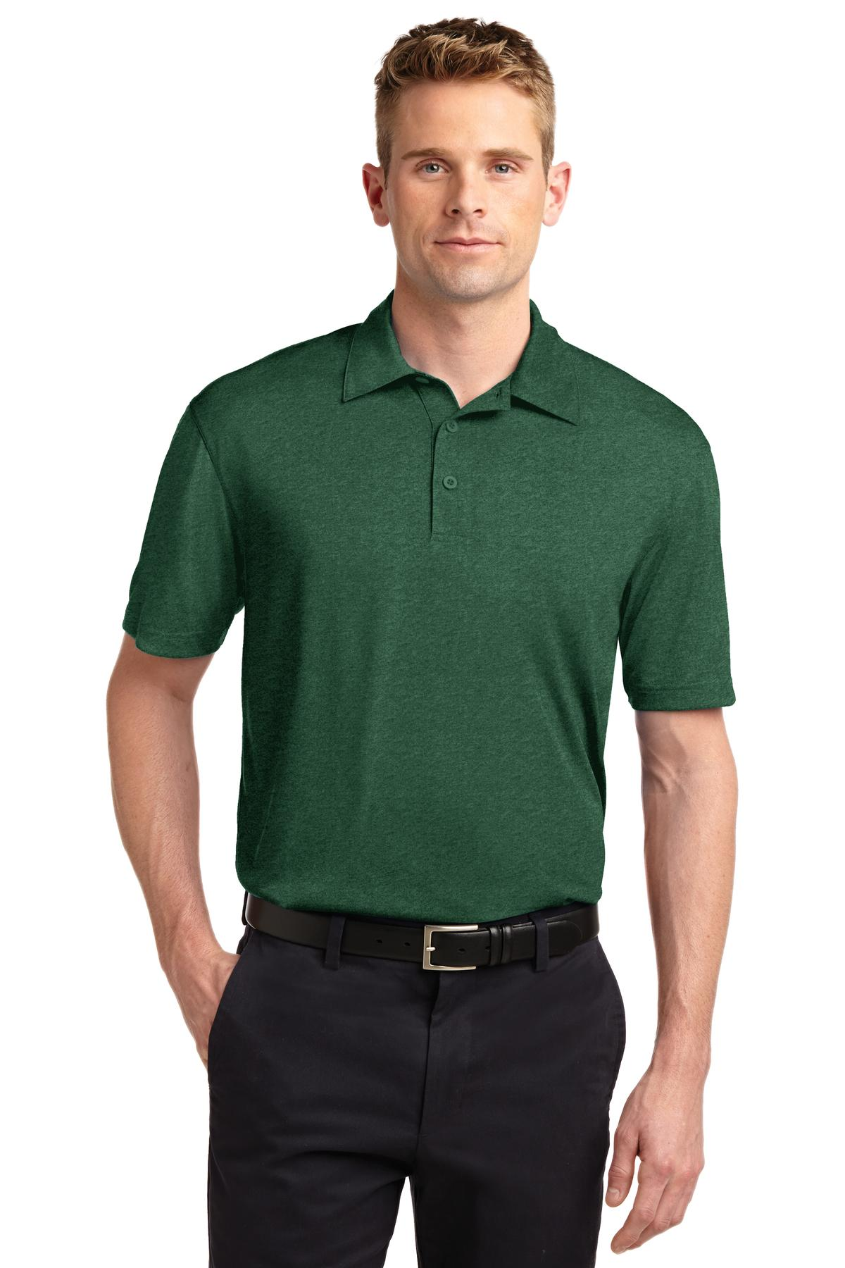 Sport-Tek ®  Heather Contender™ Polo. ST660 - Forest Green Heather