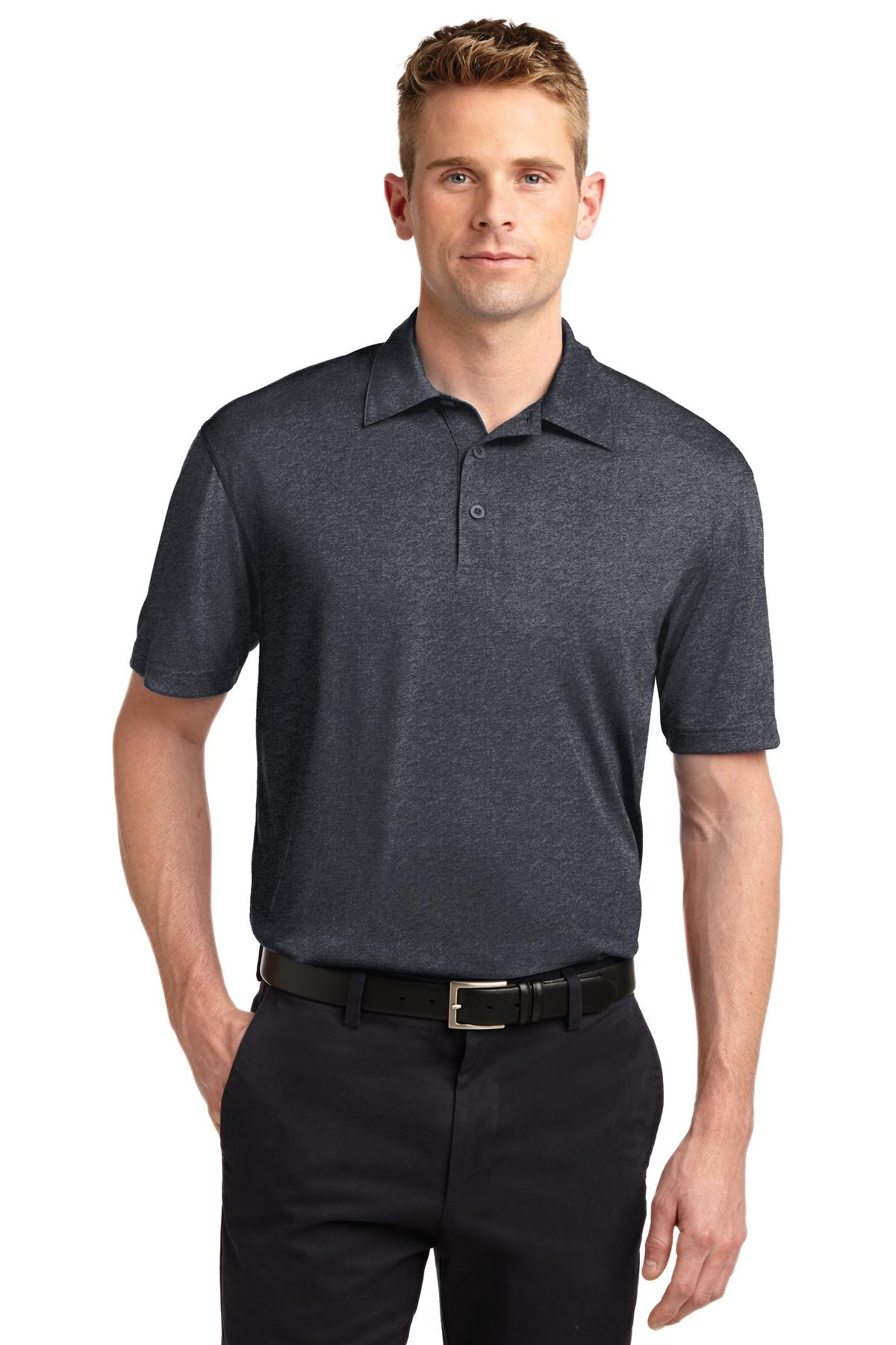 Sport-Tek ®  Heather Contender™ Polo. ST660 - Graphite Heather