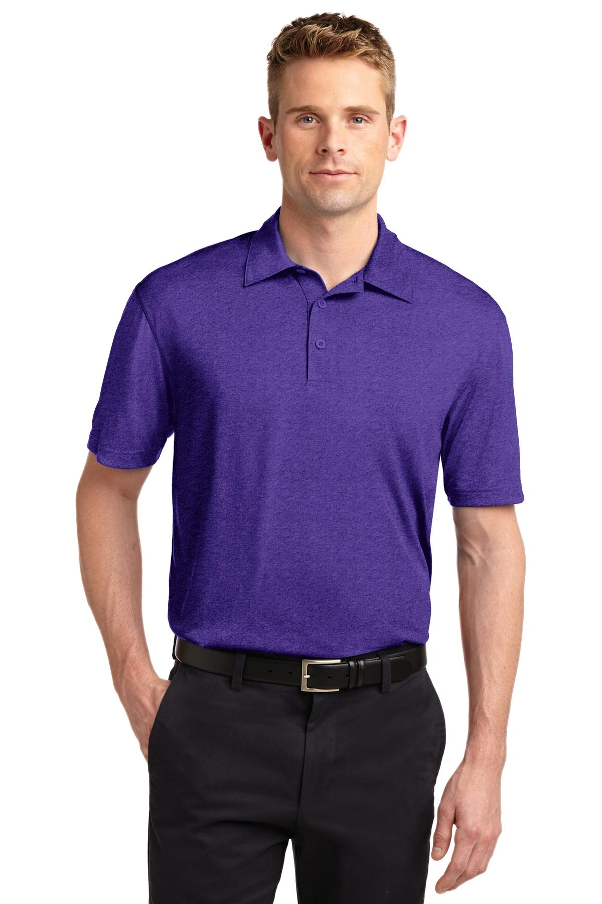 Sport-Tek ®  Heather Contender™ Polo. ST660 - Varsity Purple Heather