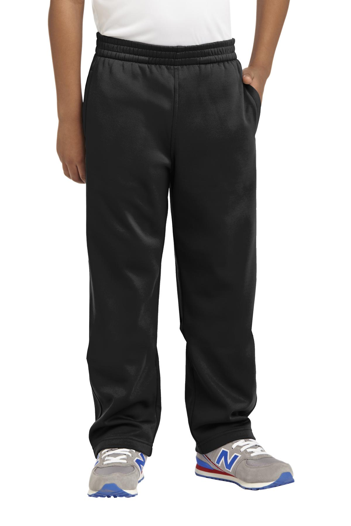 Sport-Tek ®  Youth Sport-Wick ®  Fleece Pant. YST237 - Black