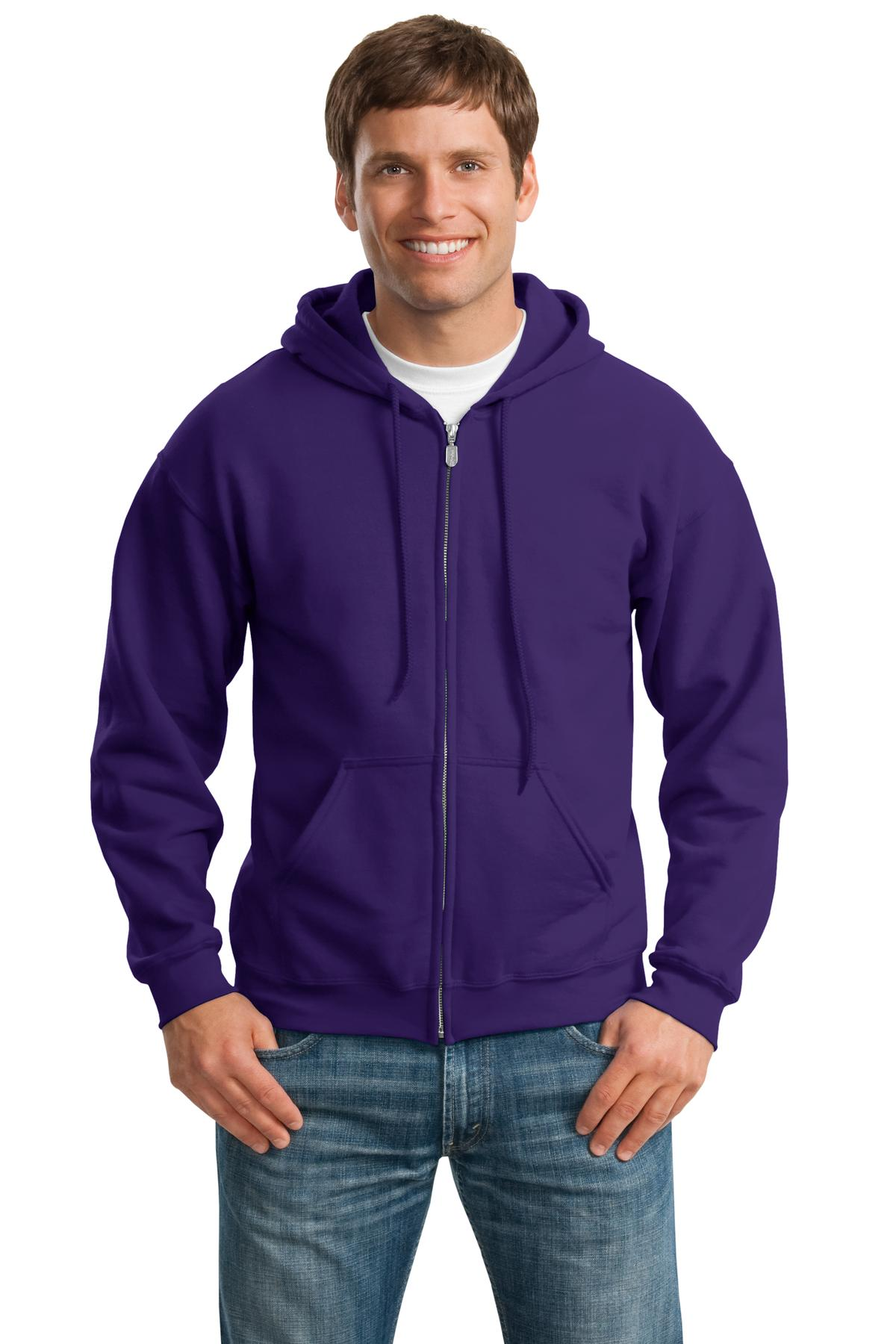 Gildan ®  - Heavy Blend™ Full-Zip Hooded Sweatshirt. 18600 - Purple