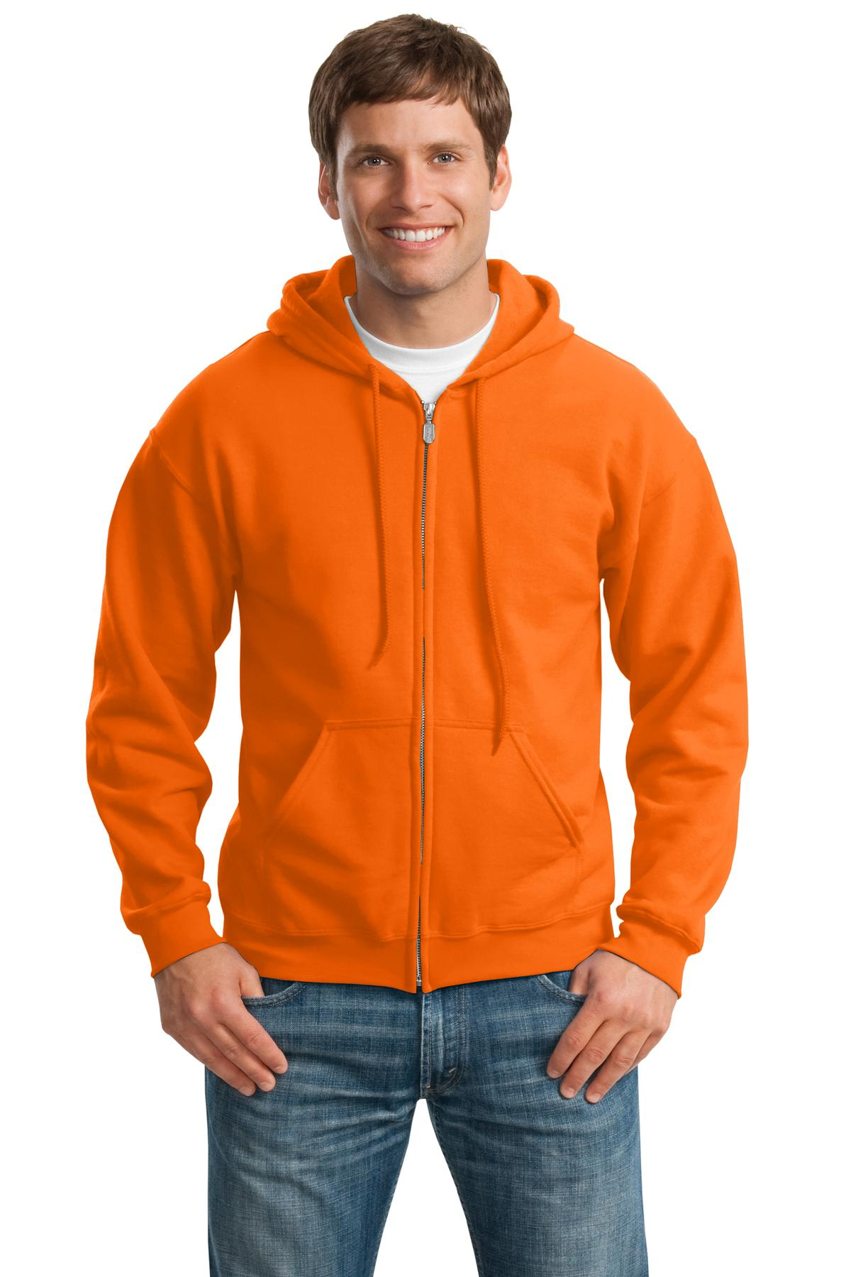 Gildan ®  - Heavy Blend™ Full-Zip Hooded Sweatshirt. 18600 - S. Orange