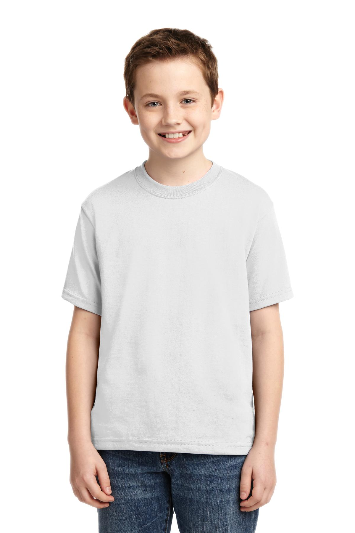 JERZEES ®  - Youth Dri-Power ®  50/50 Cotton/Poly T-Shirt.  29B - White