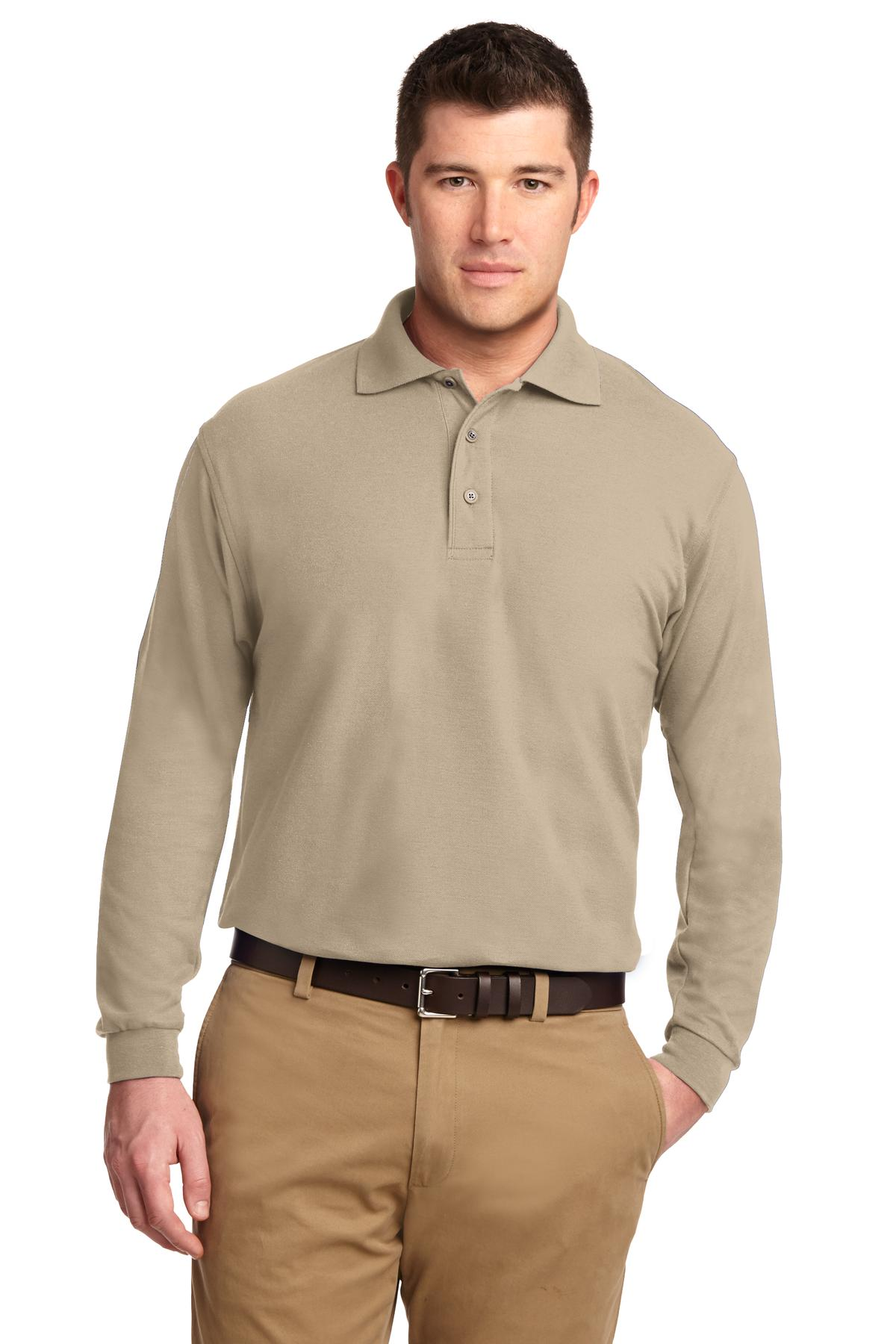 Port Authority ®  Silk Touch™ Long Sleeve Polo.  K500LS - Stone