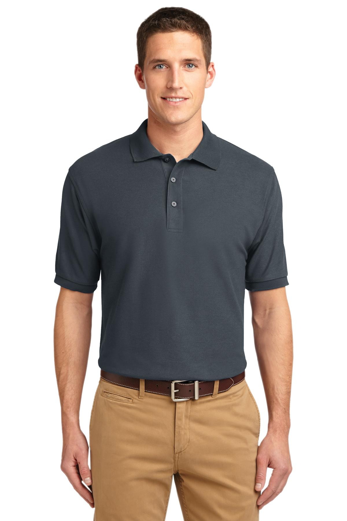 Port Authority ®  Extended Size Silk Touch™ Polo.   K500ES - Steel Grey