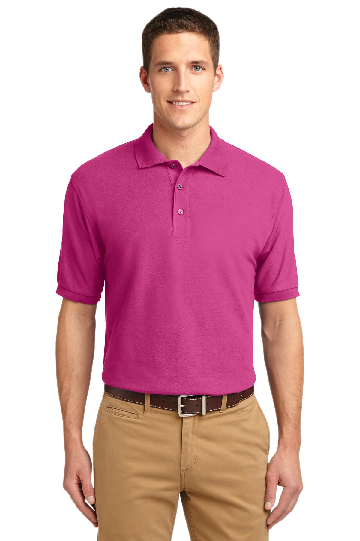 Port Authority ®  Extended Size Silk Touch™ Polo.   K500ES - Tropical Pink