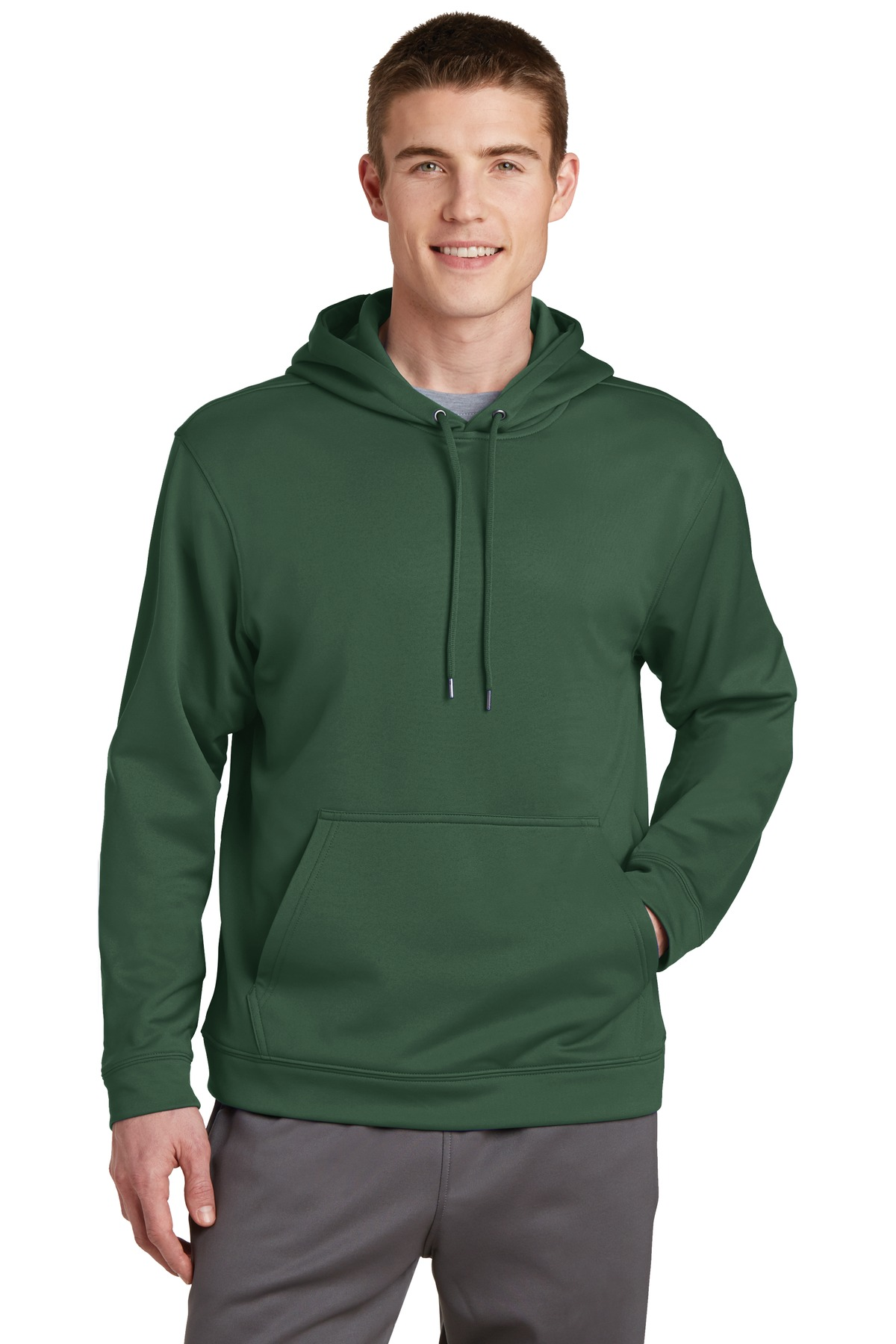 Sport-Tek ®  Sport-Wick ®  Fleece Hooded Pullover.  F244 - Forest Green