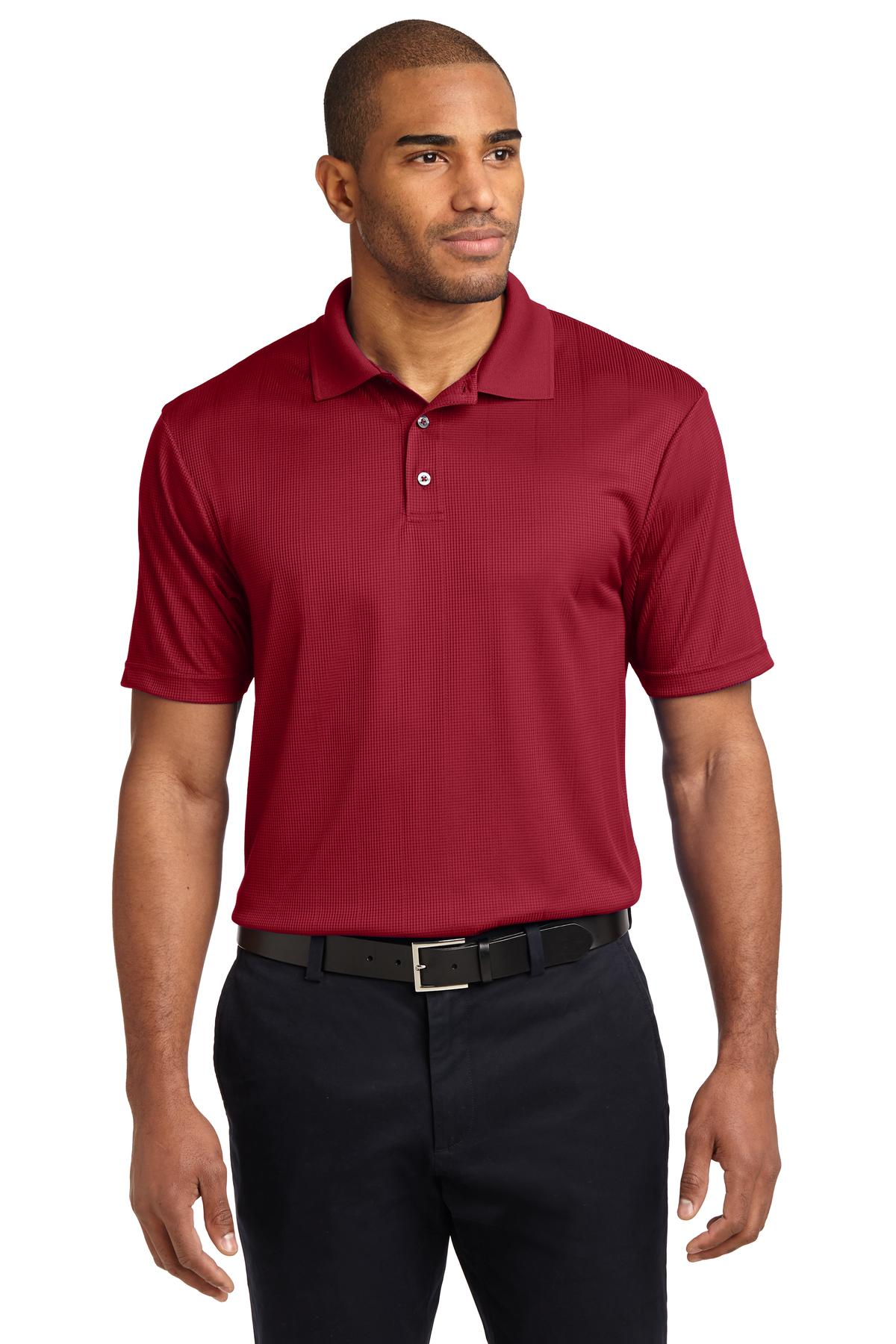 Port Authority ®  Performance Fine Jacquard Polo. K528 - Rich Red