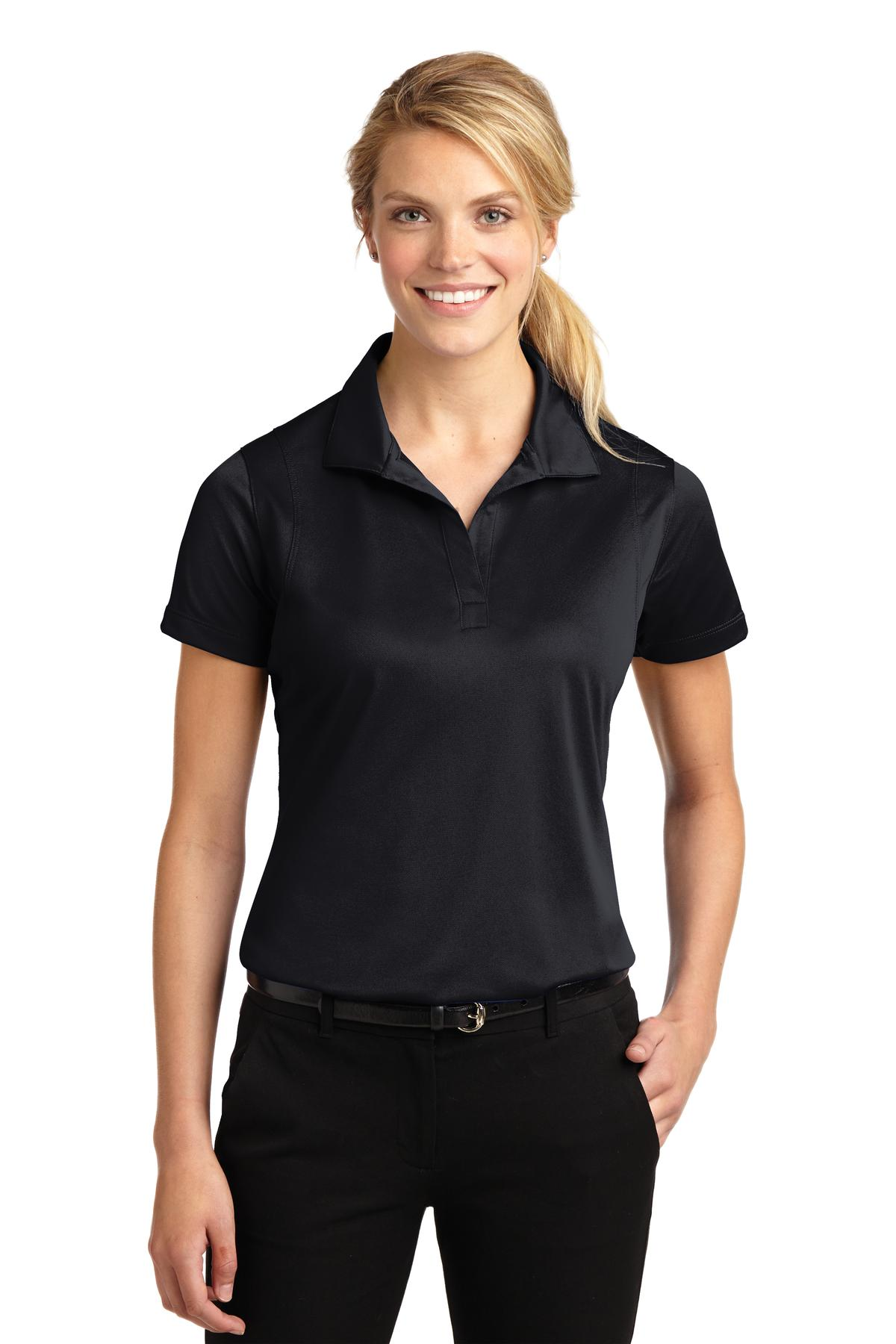 Sport-Tek ®  Ladies Micropique Sport-Wick ®  Polo. LST650 - Black