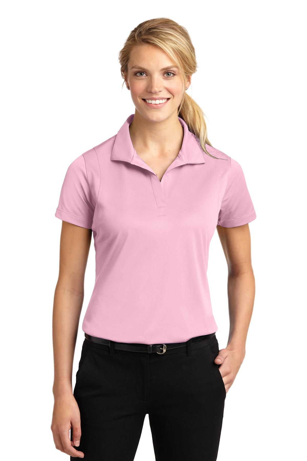 Sport-Tek ®  Ladies Micropique Sport-Wick ®  Polo. LST650 - Light Pink