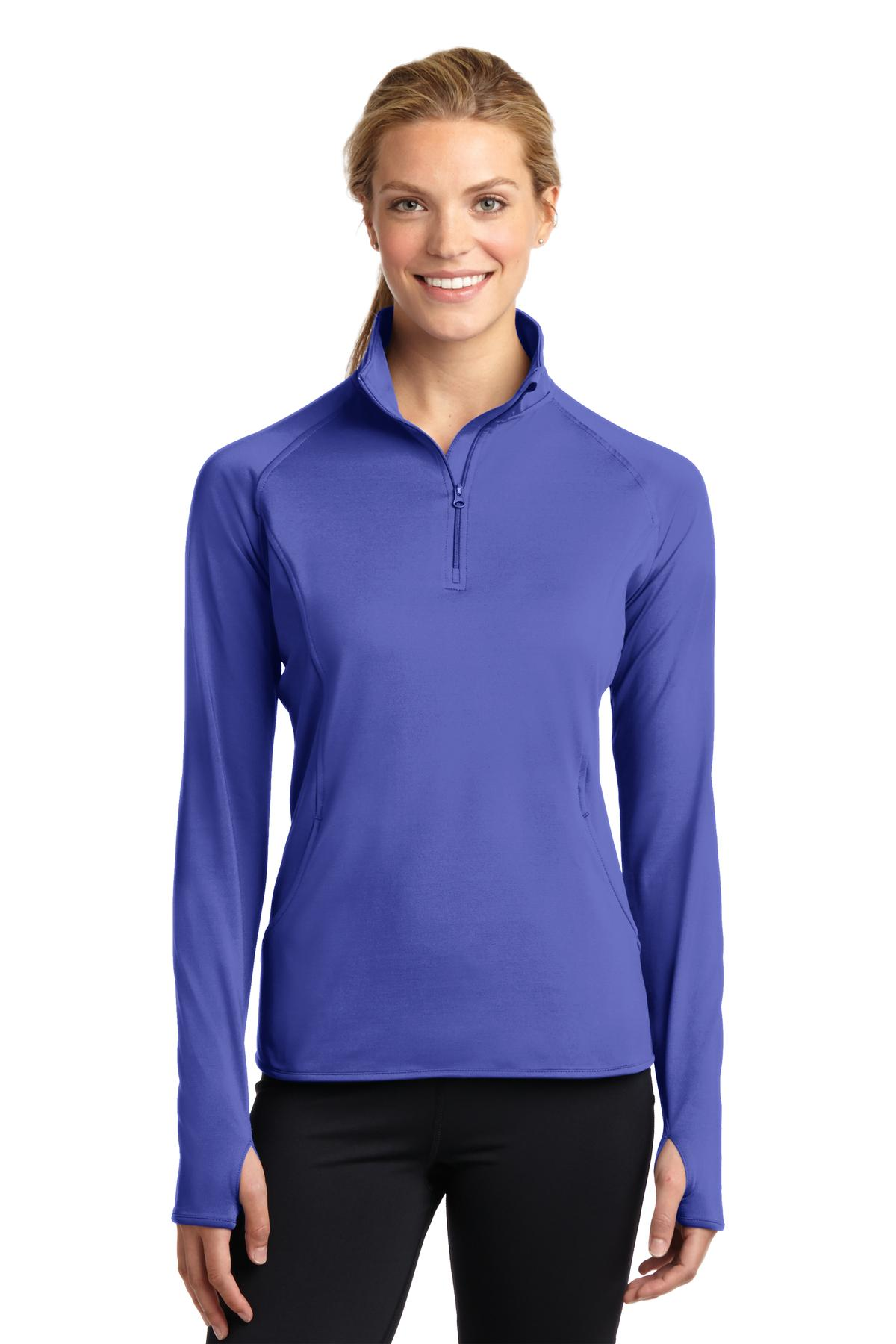 Sport-Tek ®  Ladies Sport-Wick ®  Stretch 1/2-Zip Pullover. LST850 - Iris Purple