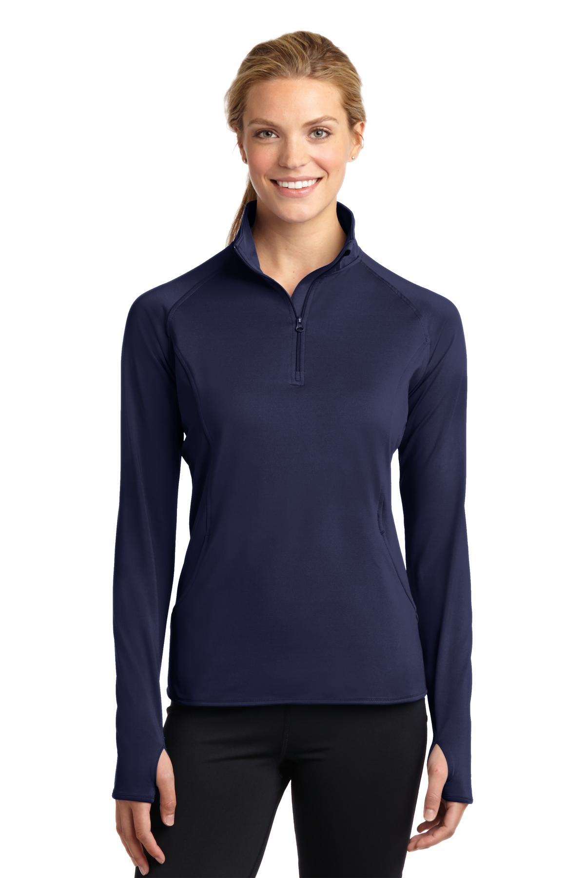 Sport-Tek ®  Ladies Sport-Wick ®  Stretch 1/2-Zip Pullover. LST850 - True Navy