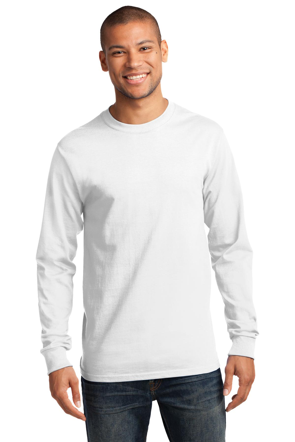 Port & Company ®  - Long Sleeve Essential Tee. PC61LS - White
