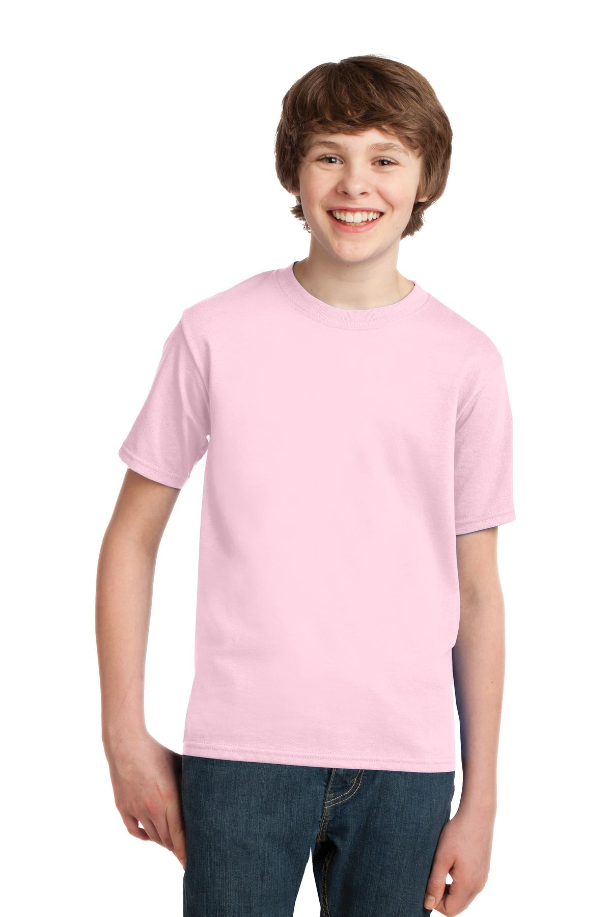 Port & Company ®  - Youth Essential Tee. PC61Y - Pale Pink