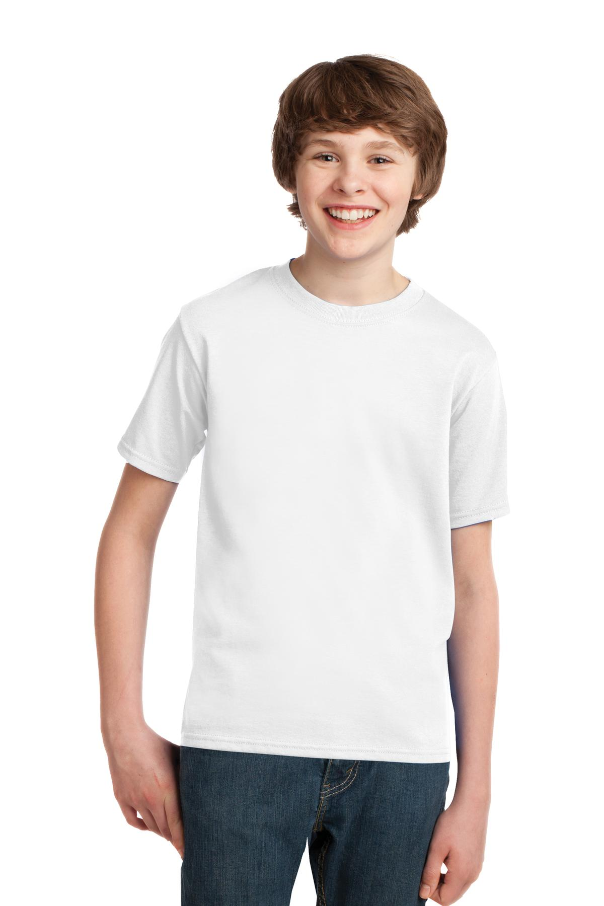 Port & Company ®  - Youth Essential Tee. PC61Y - White