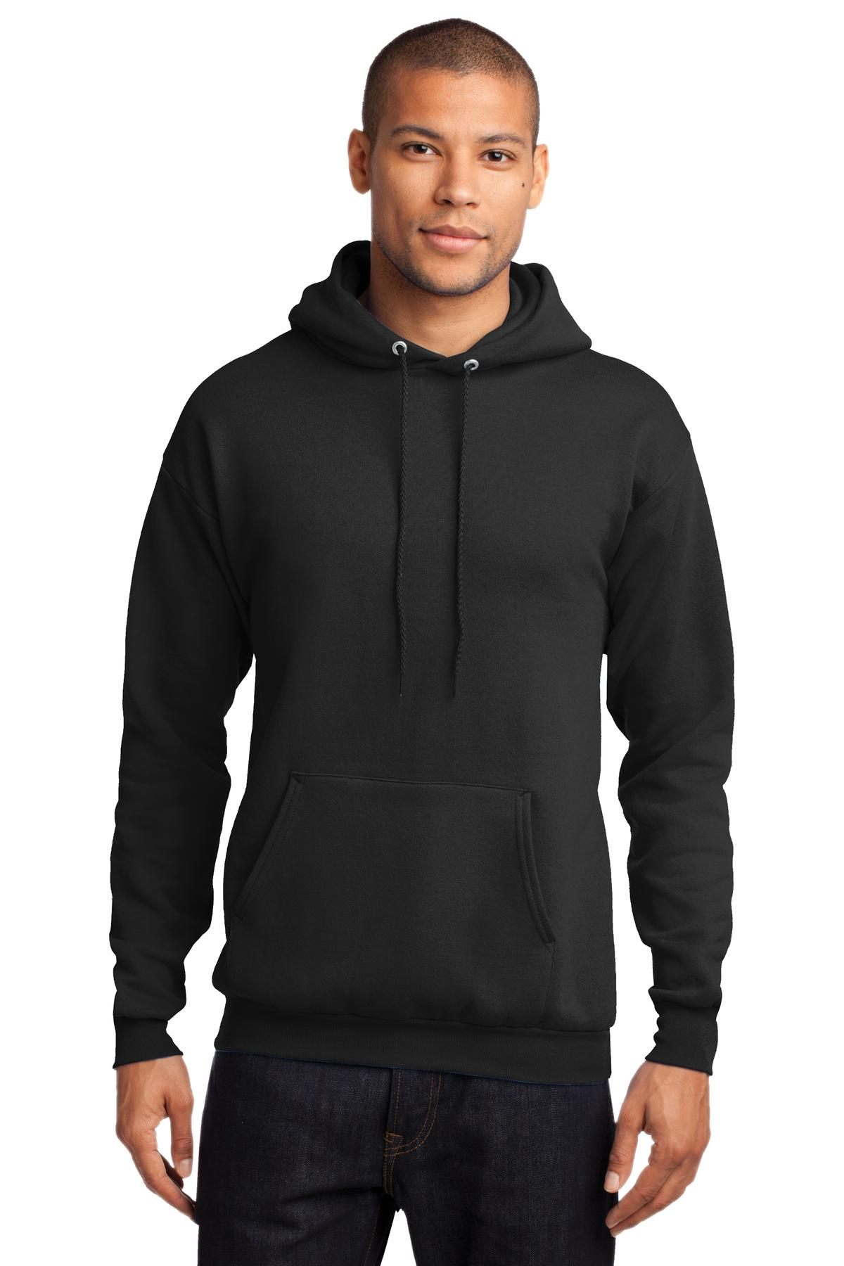 Port & Company ®  - Core Fleece Pullover Hooded Sweatshirt. PC78H - Jet Black