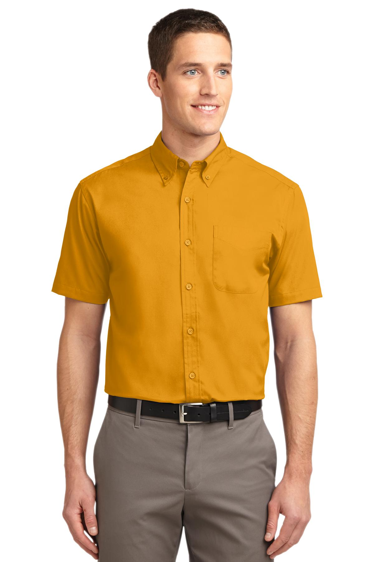 Port Authority ®  Short Sleeve Easy Care Shirt.  S508 - Athletic Gold/ Light Stone
