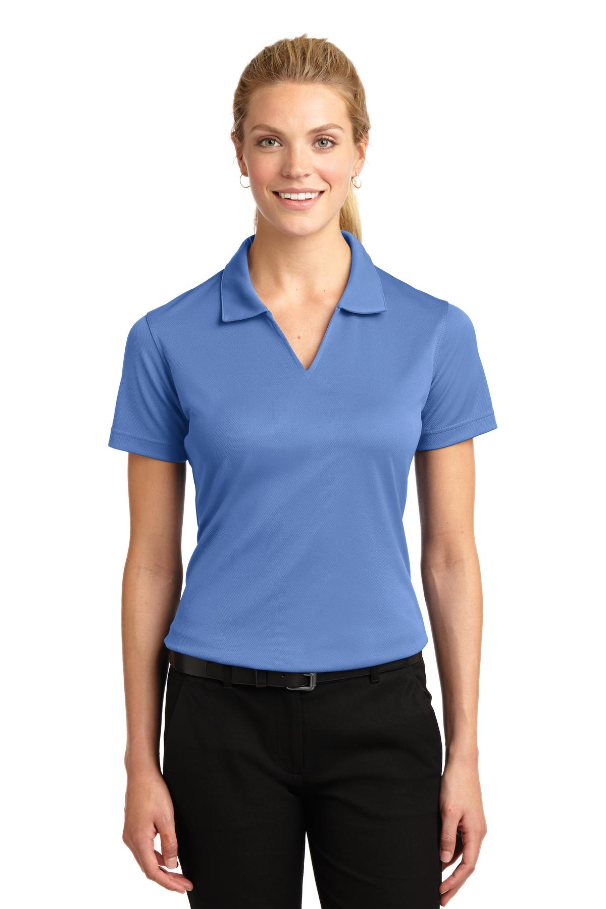Sport-Tek ®  Ladies Dri-Mesh ®  V-Neck Polo.  L469 - Blueberry