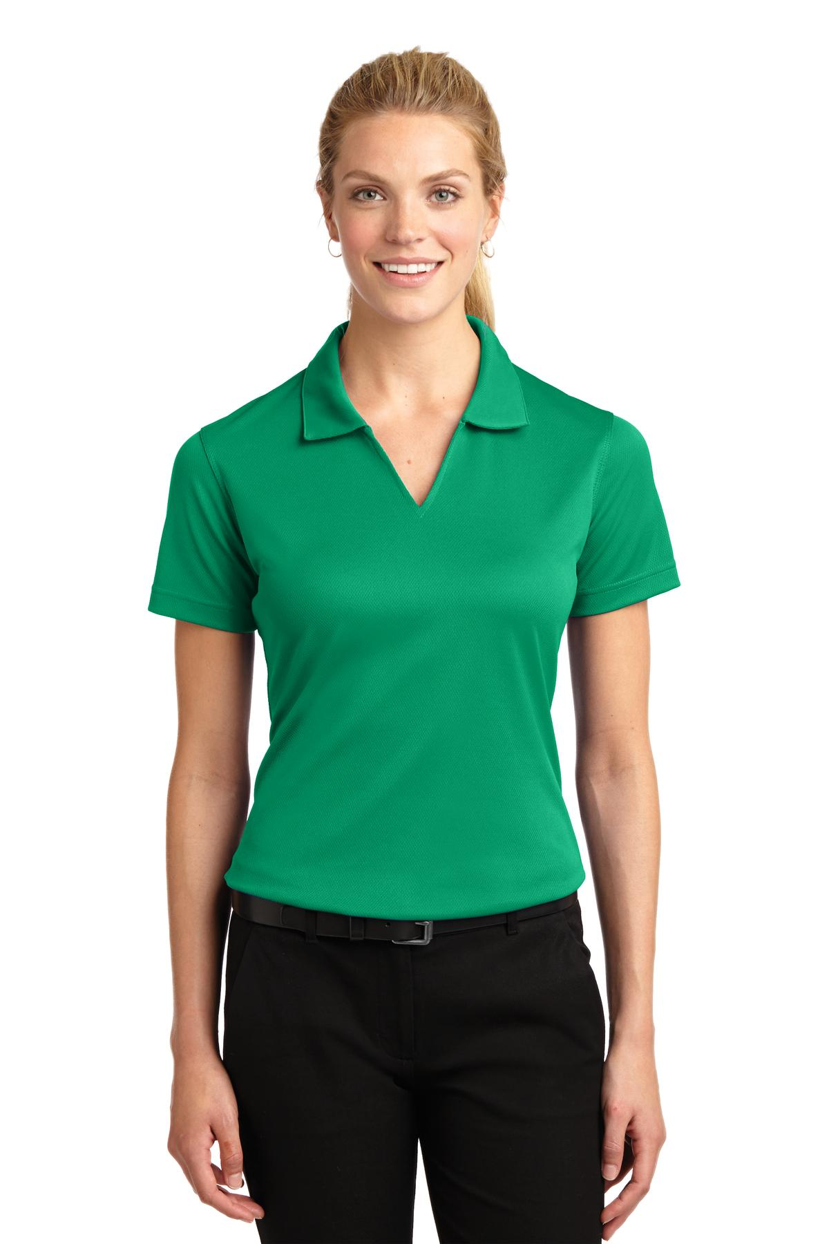 Sport-Tek ®  Ladies Dri-Mesh ®  V-Neck Polo.  L469 - Kelly Green