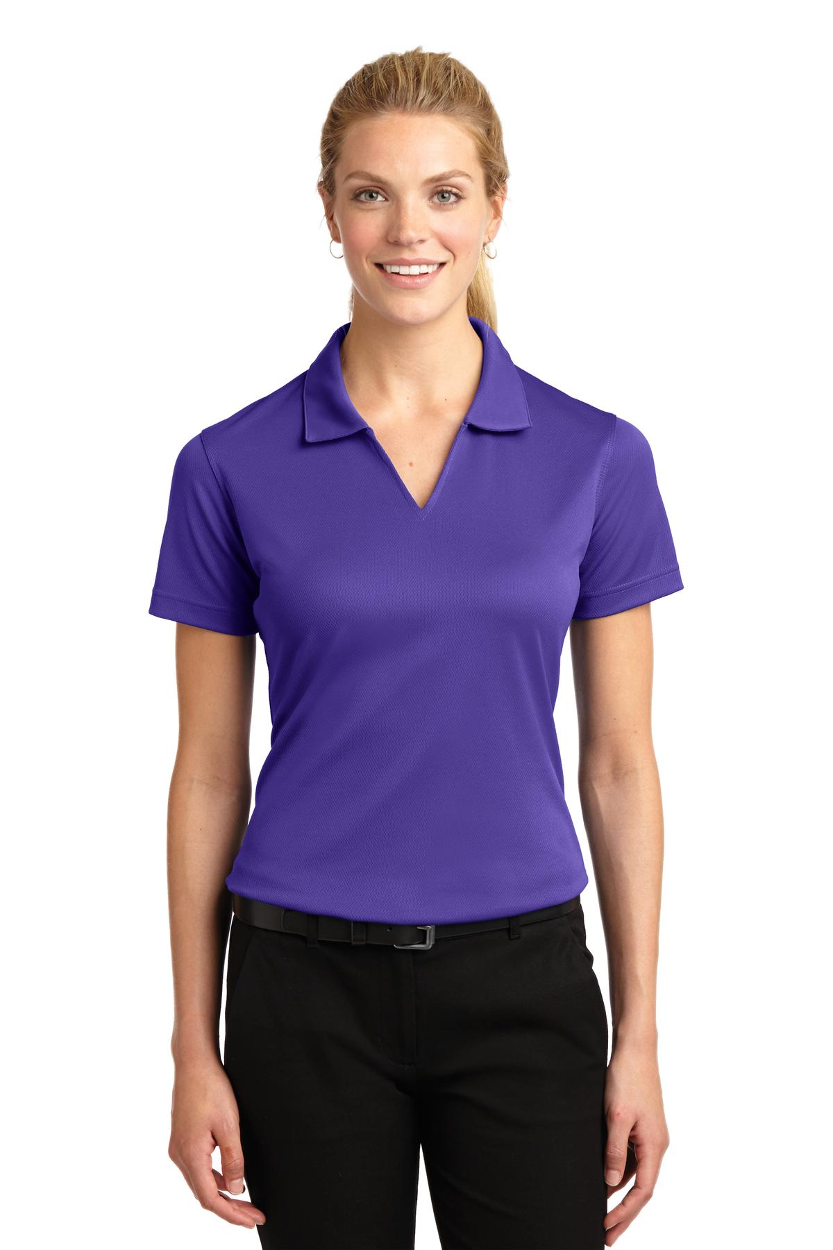 Sport-Tek ®  Ladies Dri-Mesh ®  V-Neck Polo.  L469 - Purple