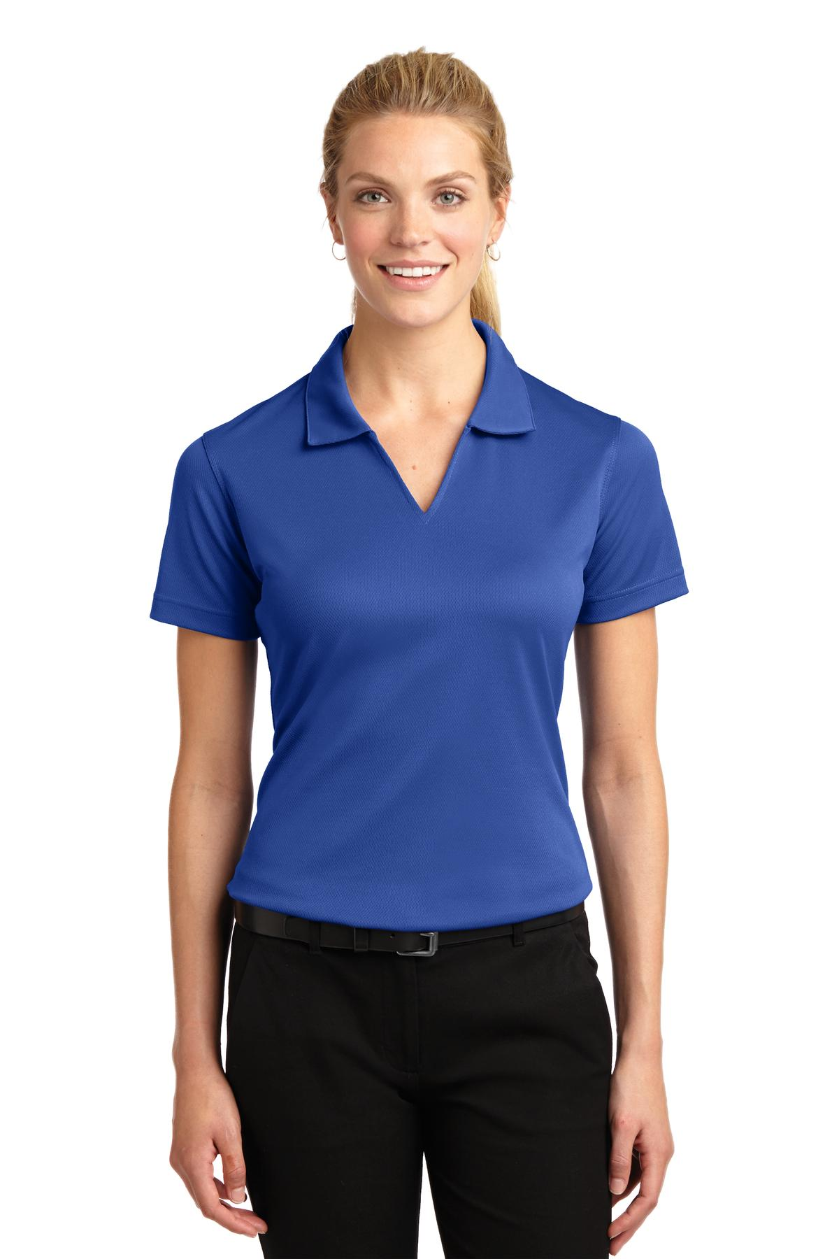 Sport-Tek ®  Ladies Dri-Mesh ®  V-Neck Polo.  L469 - Royal