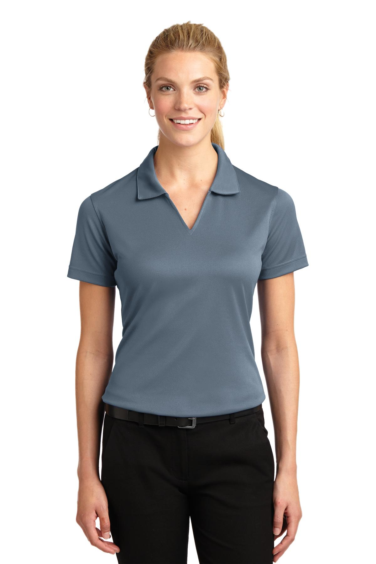 Sport-Tek ®  Ladies Dri-Mesh ®  V-Neck Polo.  L469 - Steel