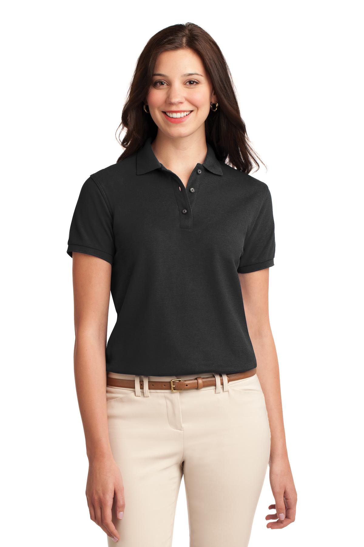 Port Authority ®  Ladies Silk Touch™ Polo.  L500 - Black