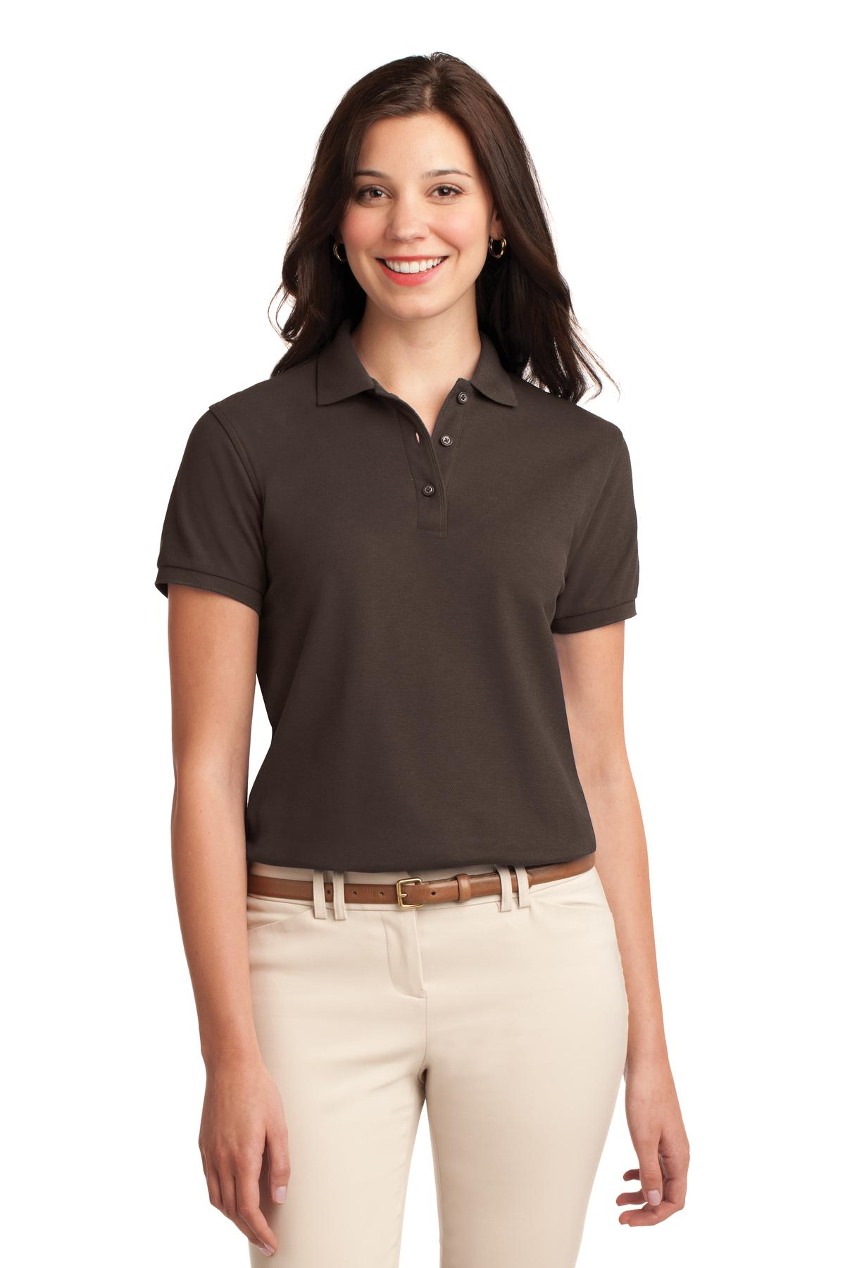 Port Authority ®  Ladies Silk Touch™ Polo.  L500 - Coffee Bean